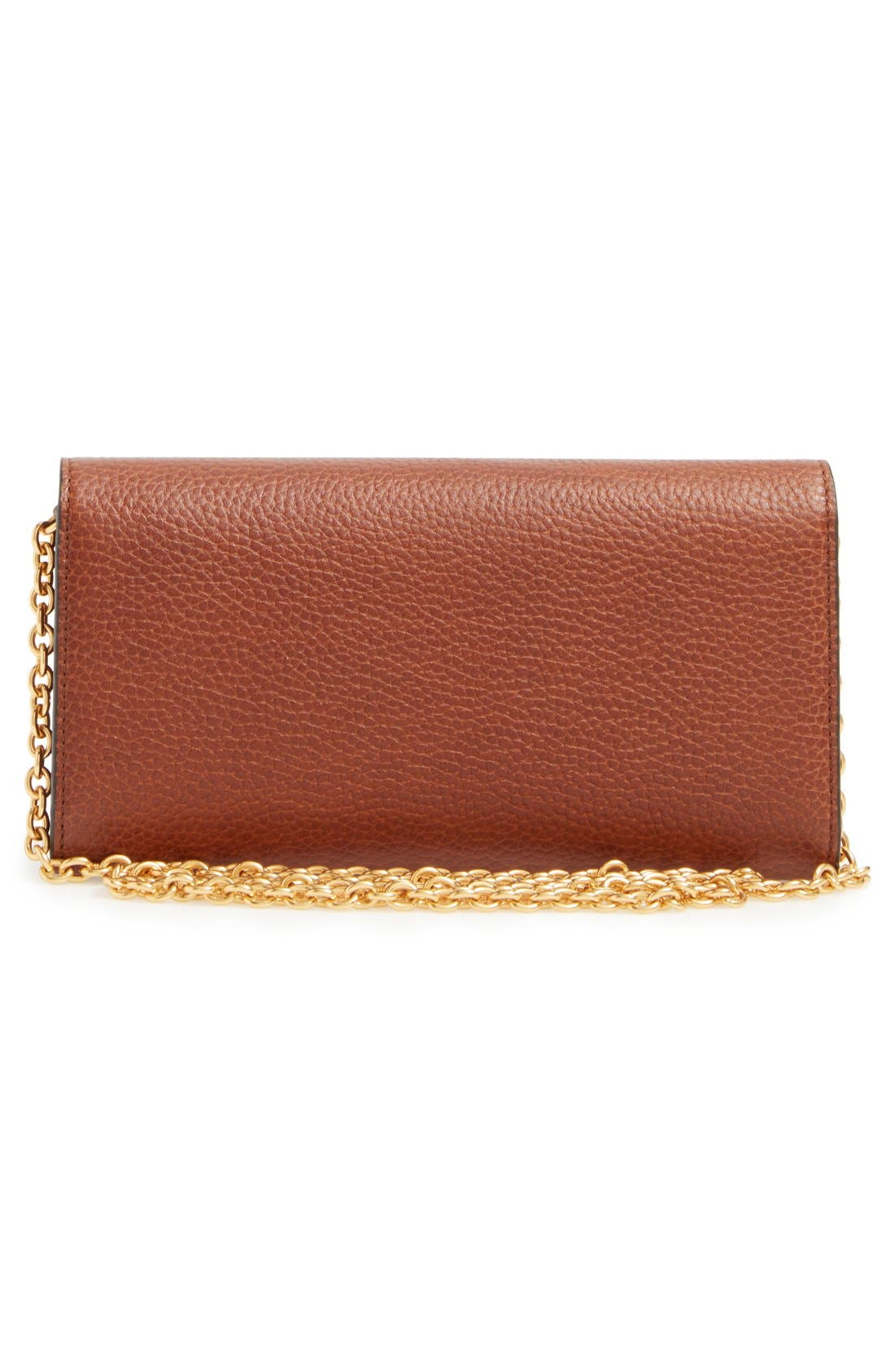 'Continental - Classic' Convertible Leather Clutch,                             Alternate thumbnail 4, color,                             200