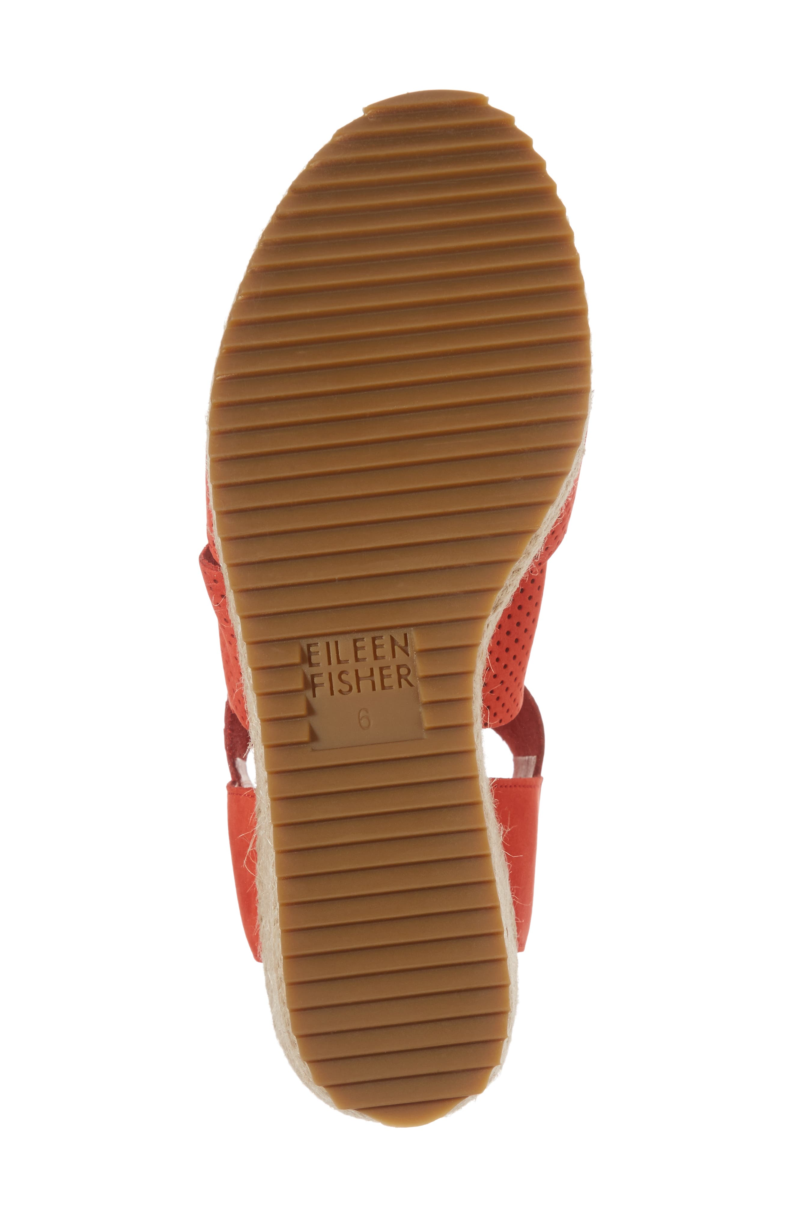 'Willow' Espadrille Wedge Sandal,                             Alternate thumbnail 6, color,                             PERSIMMON NUBUCK