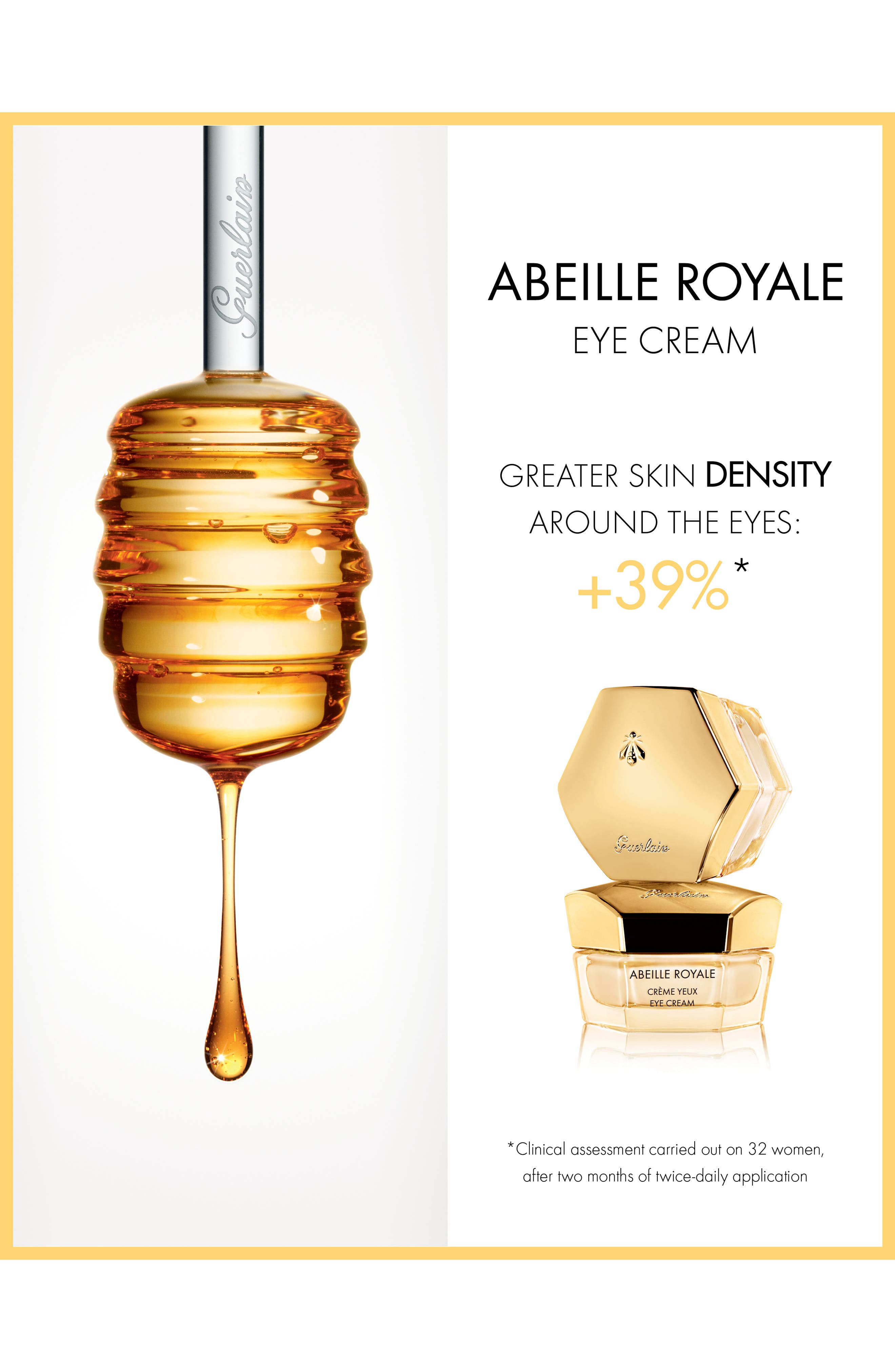 GUERLAIN,                             Abeille Royale Replenishing Eye Cream,                             Alternate thumbnail 4, color,                             NO COLOR