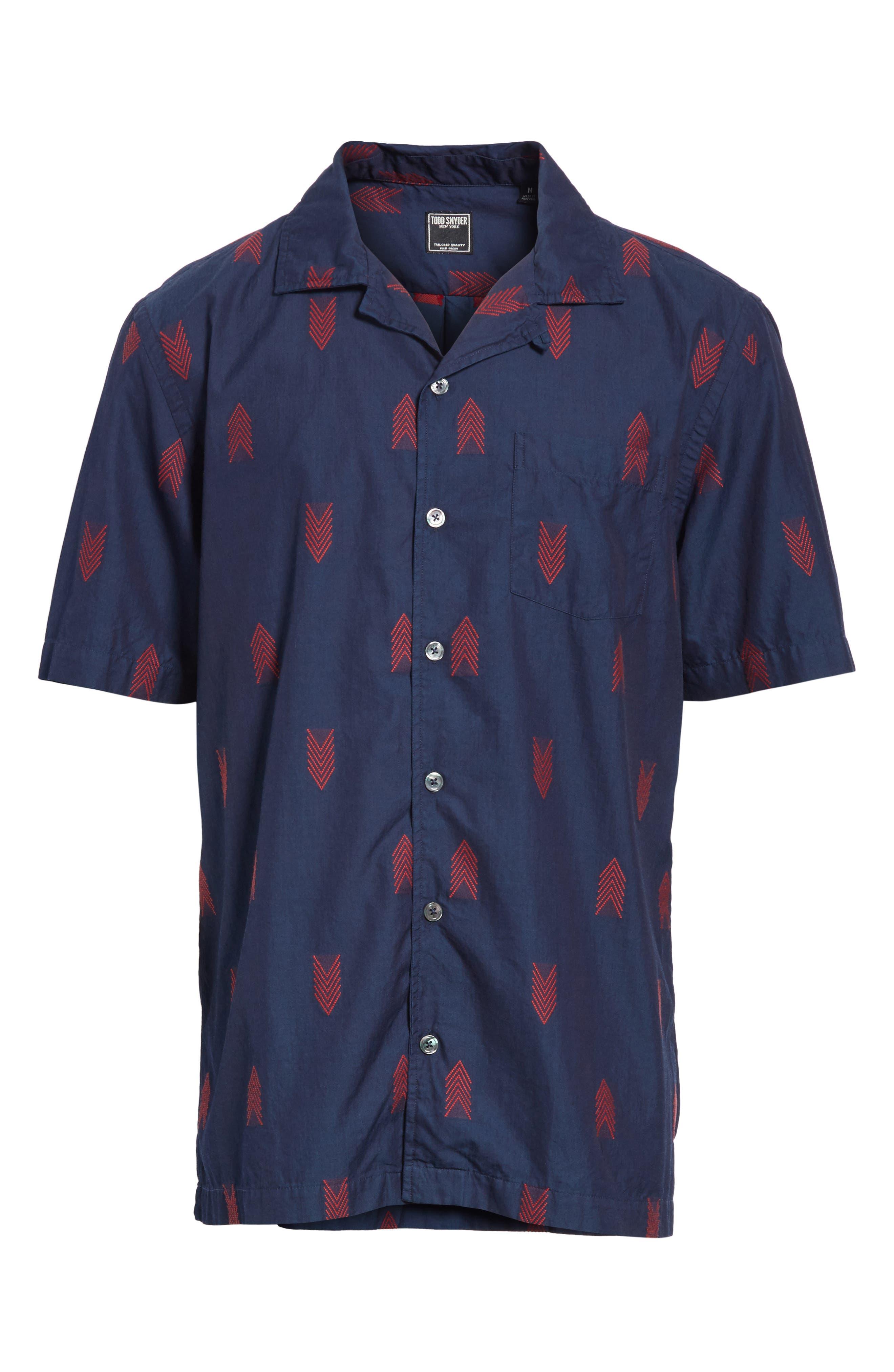 Short Sleeve Woven Shirt,                             Alternate thumbnail 6, color,                             420
