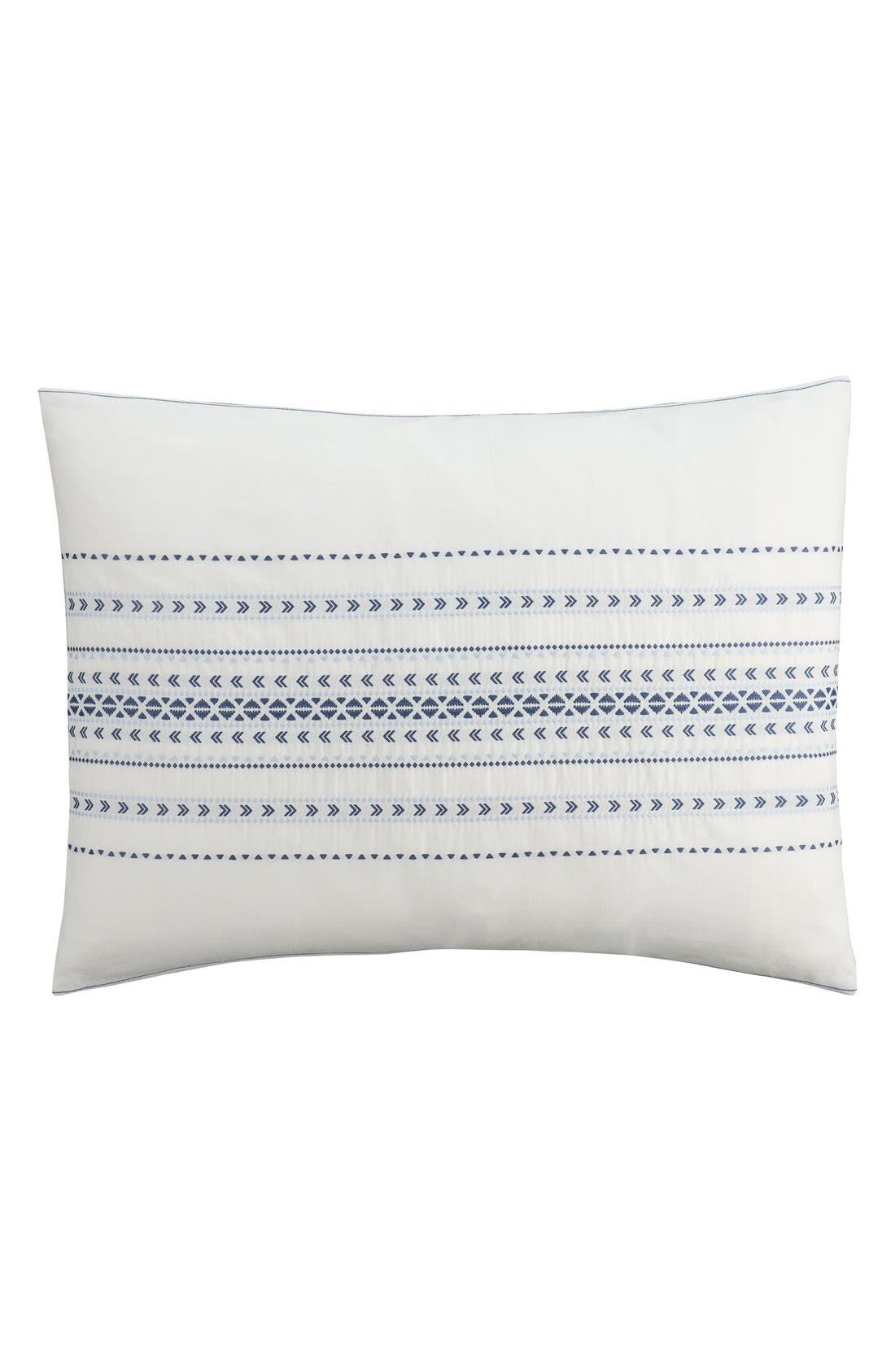 'Indigo Stripe' Sham,                         Main,                         color, 100