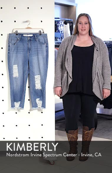 High Rise Distressed Crop Jeans, sales video thumbnail
