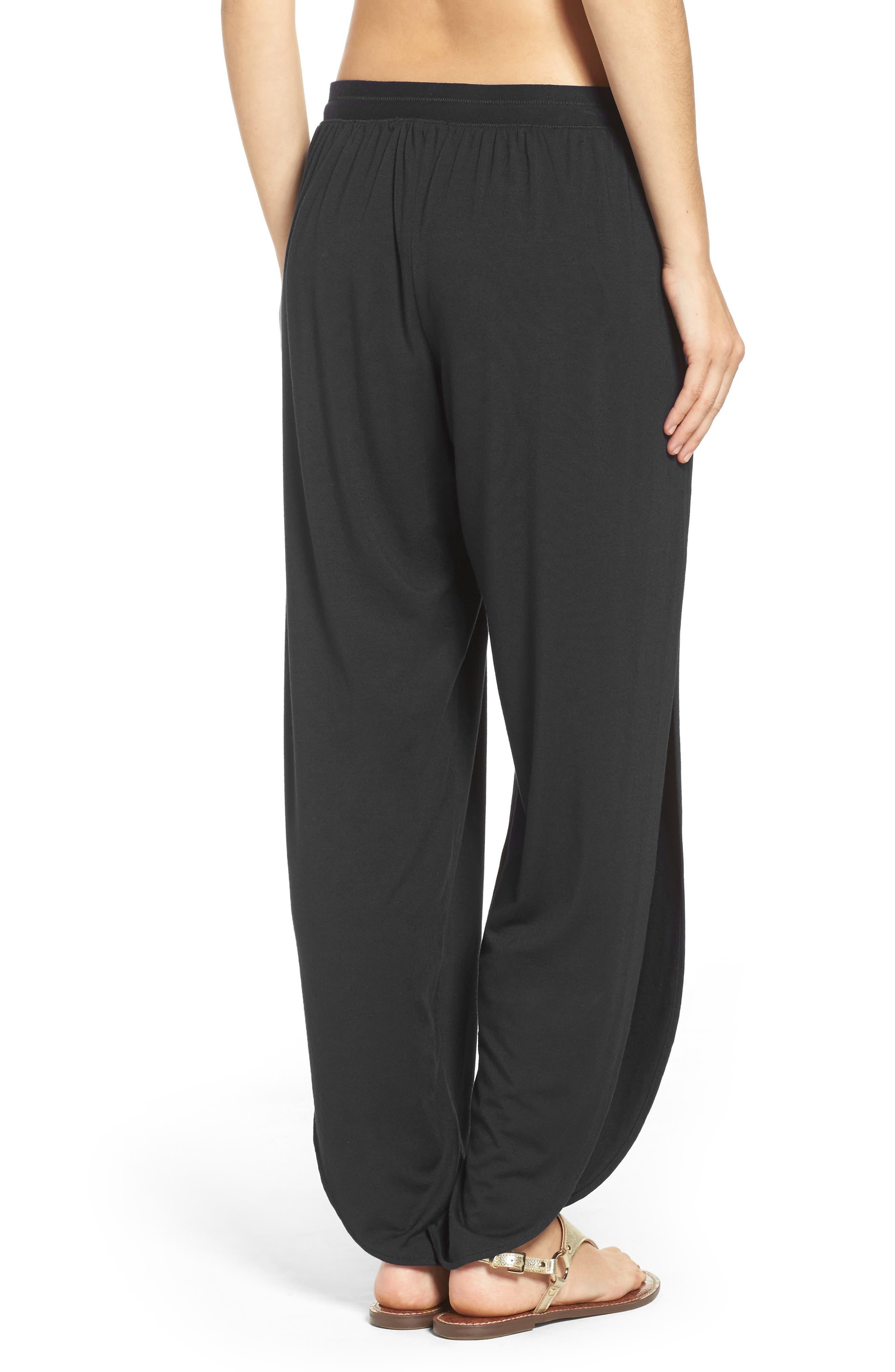 ROBIN PICCONE,                             Side Split Cover-Up Pants,                             Alternate thumbnail 2, color,                             BLACK