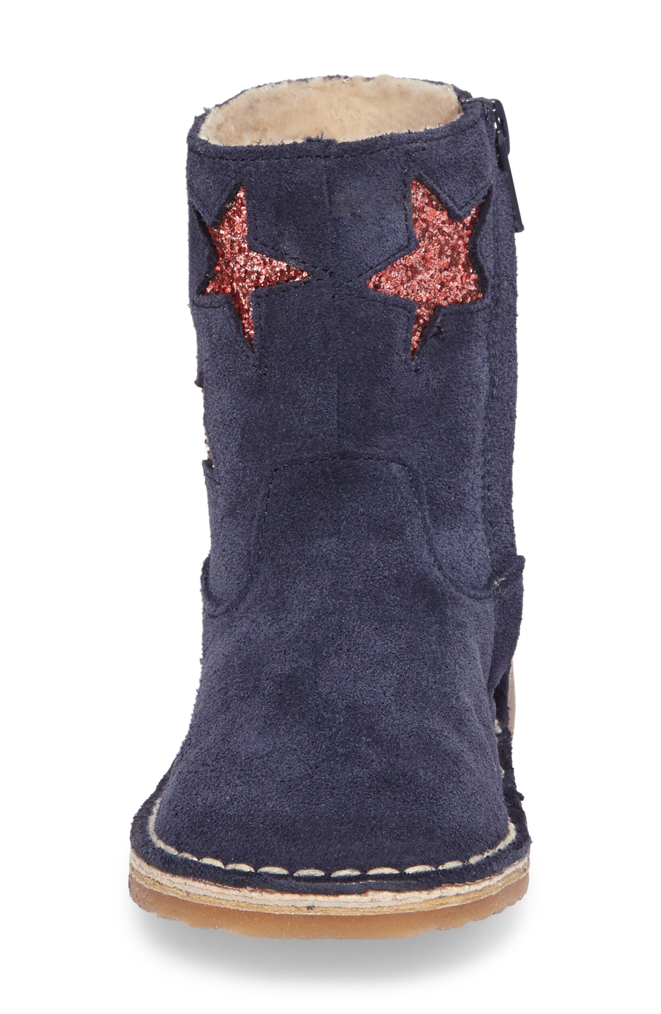 Faux Fur Glitter Star Boot,                             Alternate thumbnail 11, color,