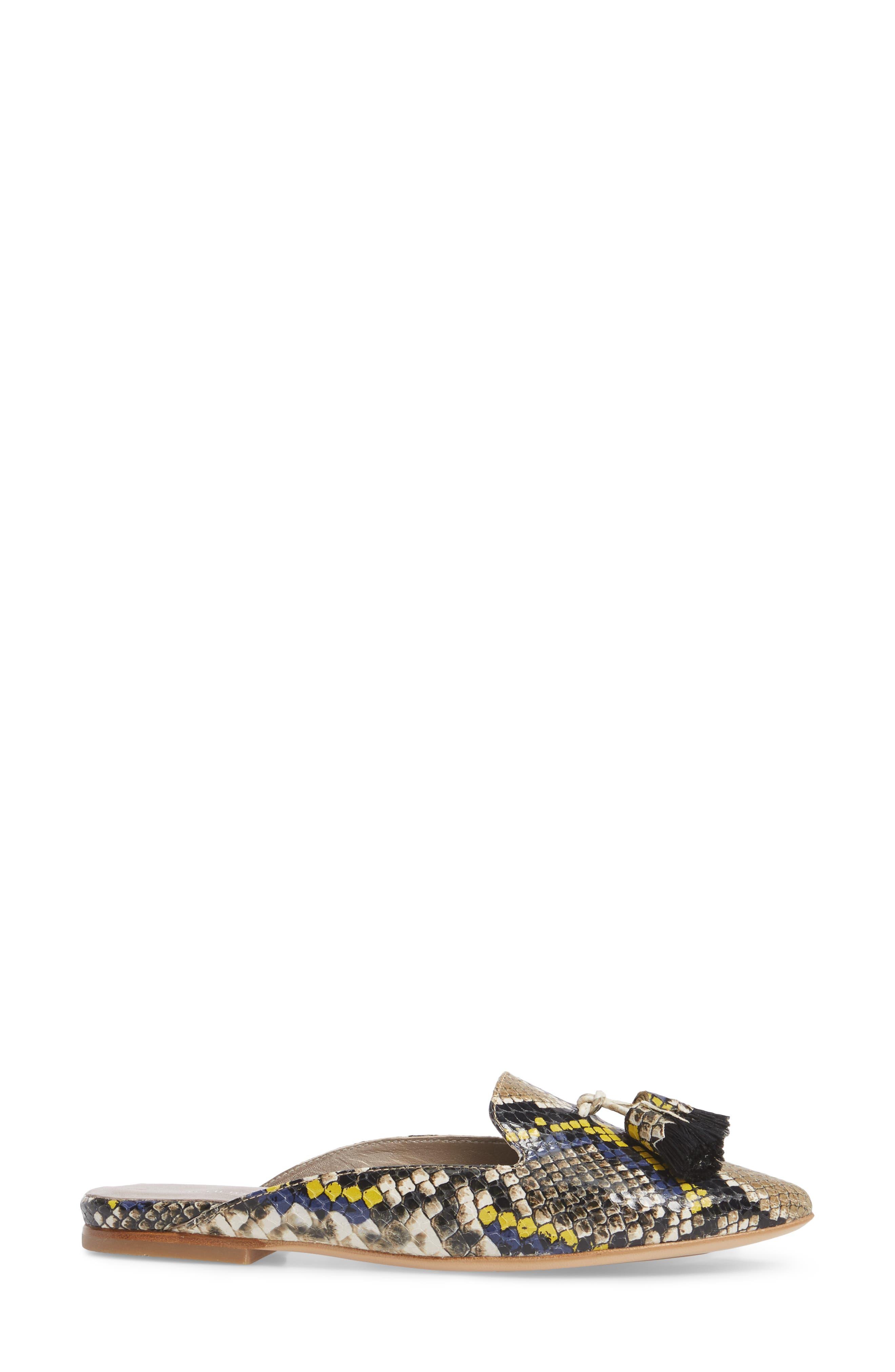 Tassel Loafer Mule,                             Alternate thumbnail 3, color,                             405