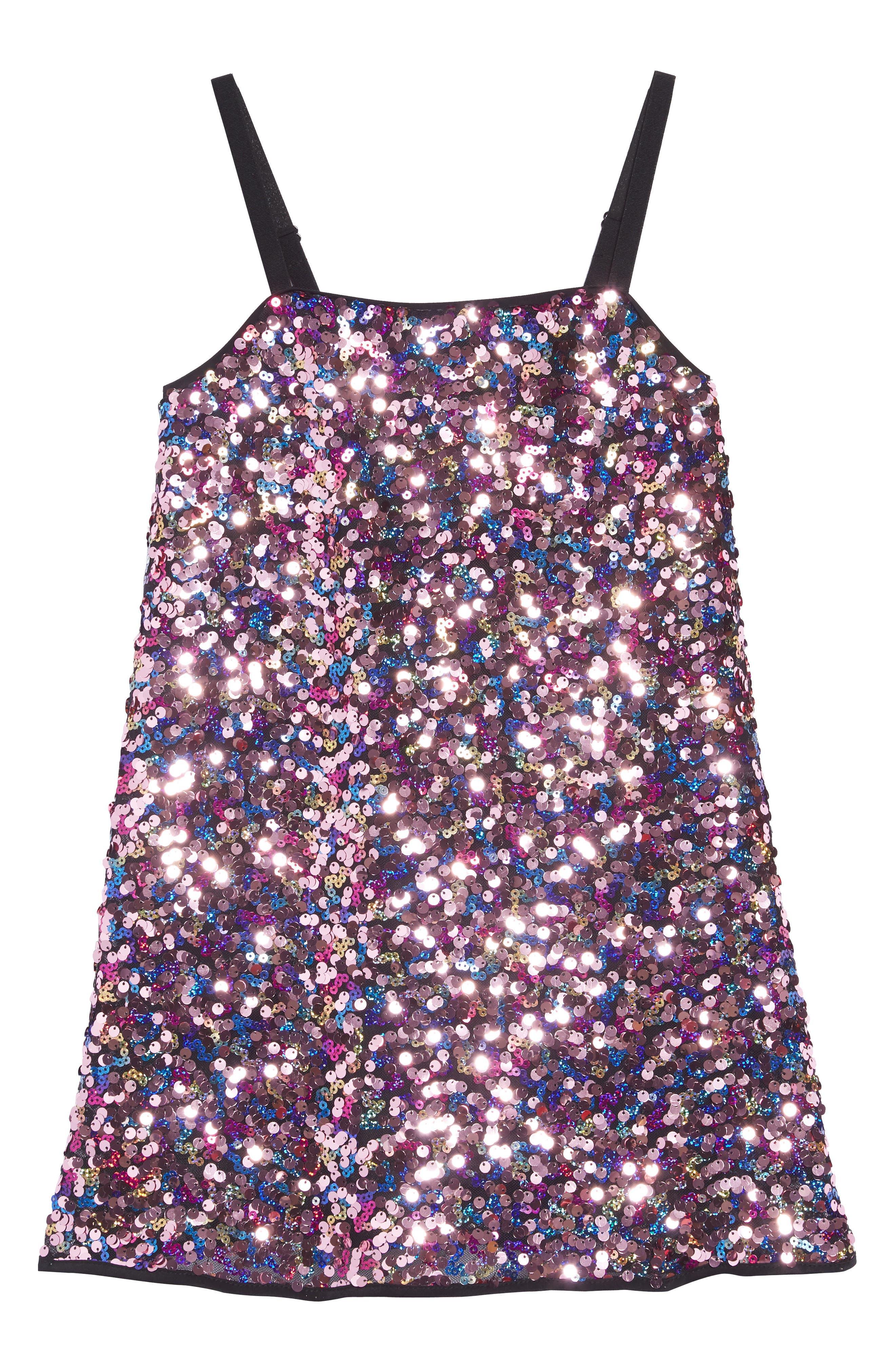 Chelsea Pailettes Dress,                             Main thumbnail 1, color,                             MULTI