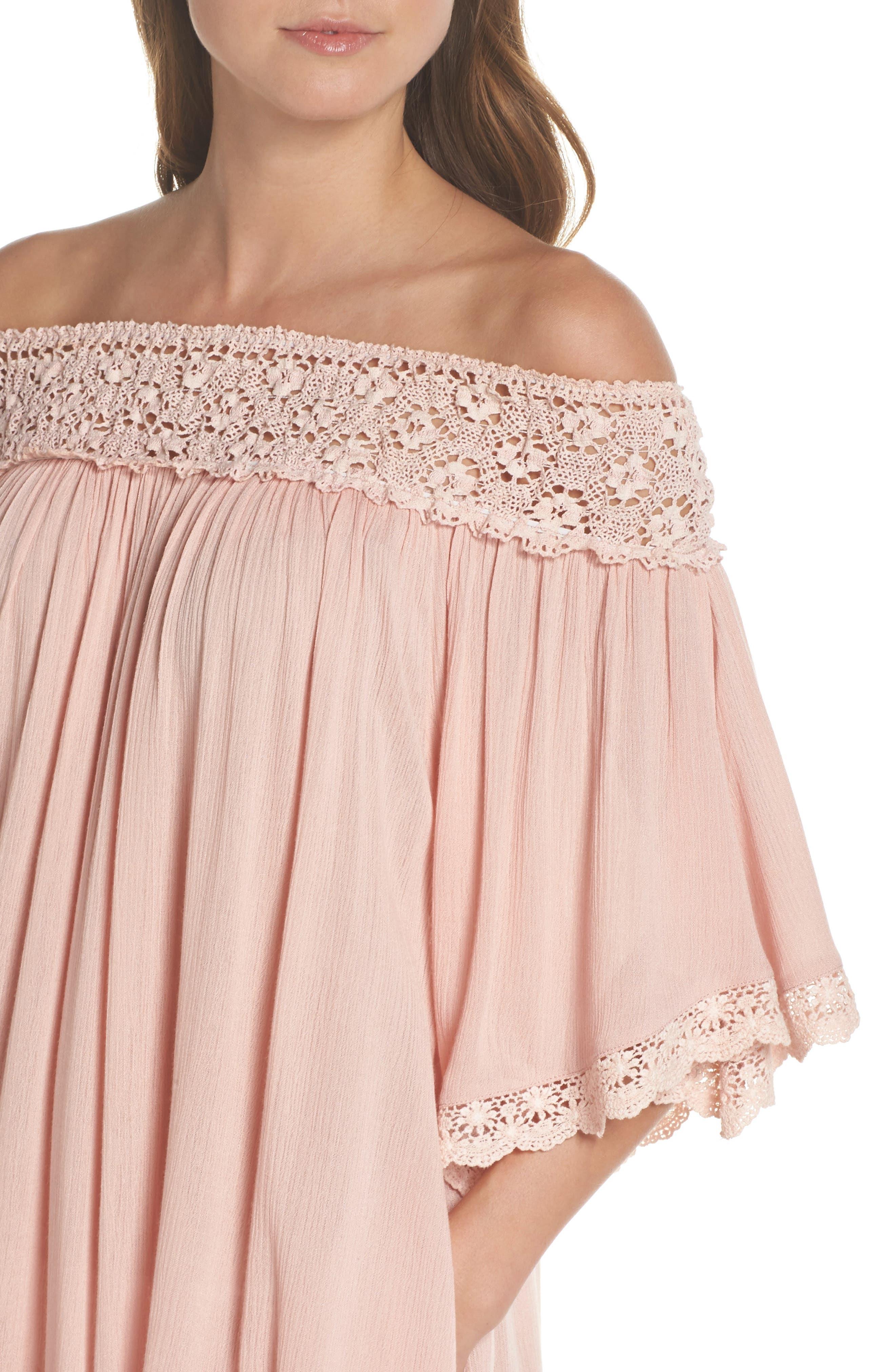 Rimini Crochet Cover-Up Dress,                             Alternate thumbnail 8, color,