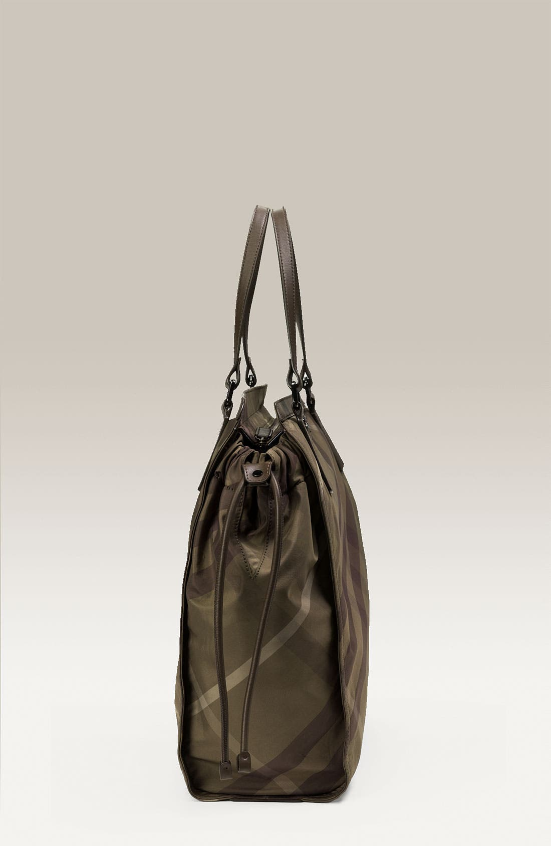 Check Print Nylon Tote,                             Alternate thumbnail 2, color,                             300