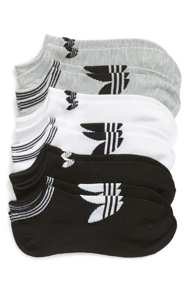 detailed look 54cd1 e6ea0 ADIDAS 6-Pack No-Show Socks, Main, color, WHITE LT