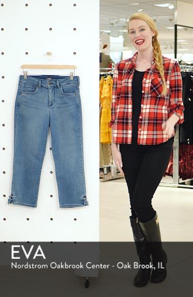 High Waist Lace Up Hem Capri Jeans, sales video thumbnail