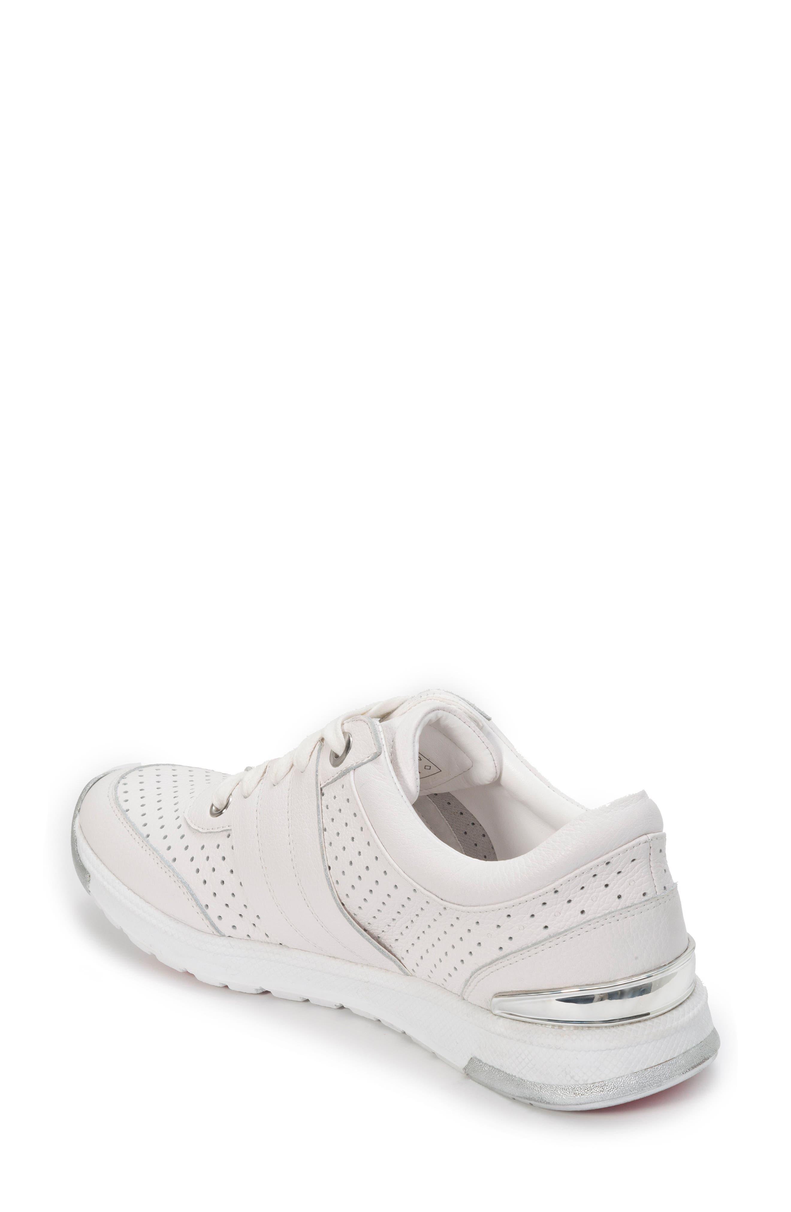 FOOT PETALS,                             Bea Sneaker,                             Alternate thumbnail 2, color,                             WHITE LEATHER