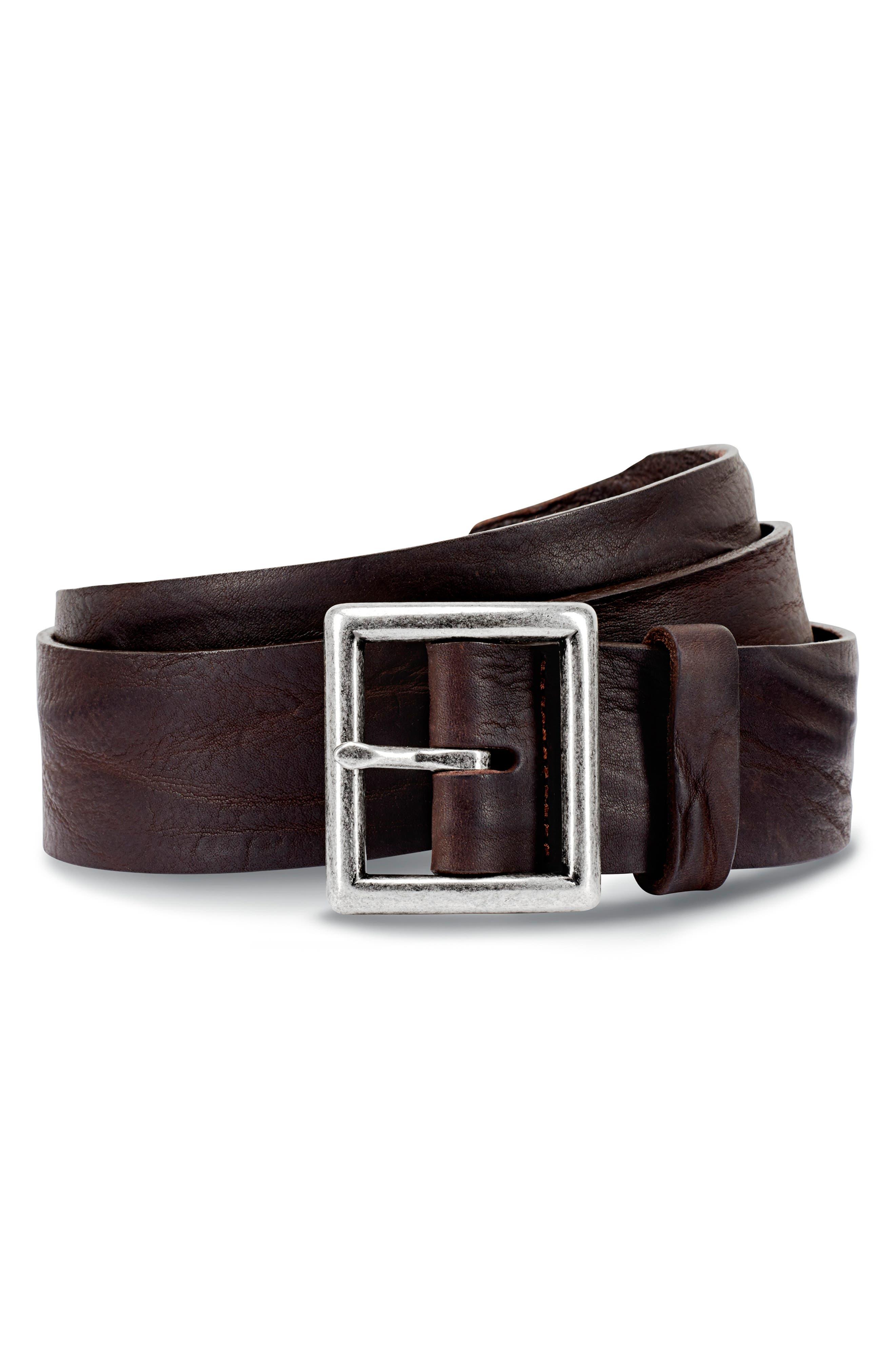 Allen Edmonds Radcliff Avenue Leather Belt, Dark Brown