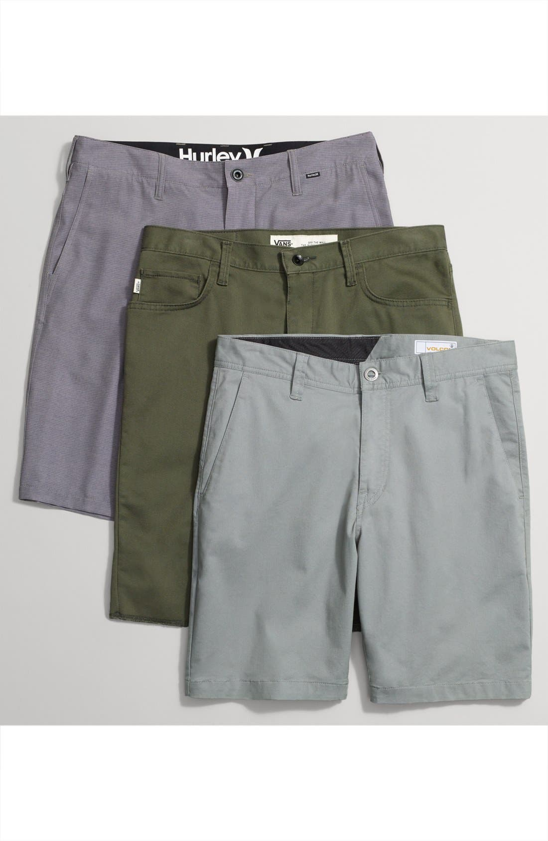 'Covina II - Anthony Van Engelen' Twill Shorts,                             Alternate thumbnail 6, color,                             001