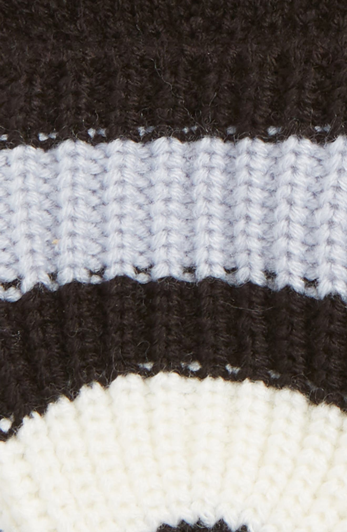 stripe convertible knit mittens,                             Alternate thumbnail 2, color,                             RICH INK