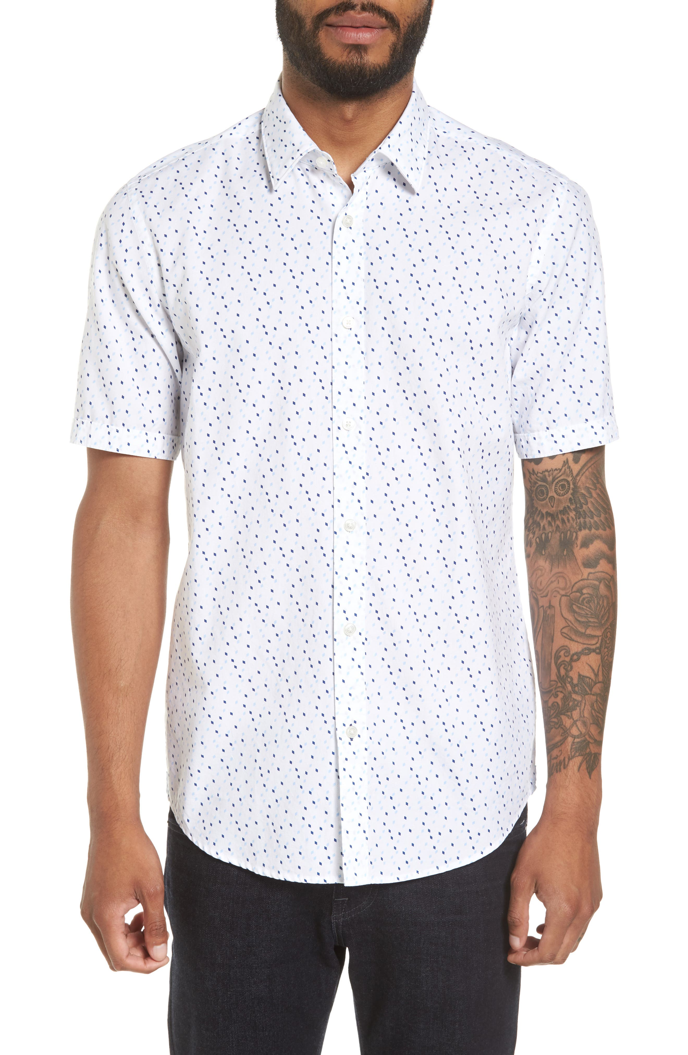 Luka Regular Fit Print Sport Shirt,                         Main,                         color,