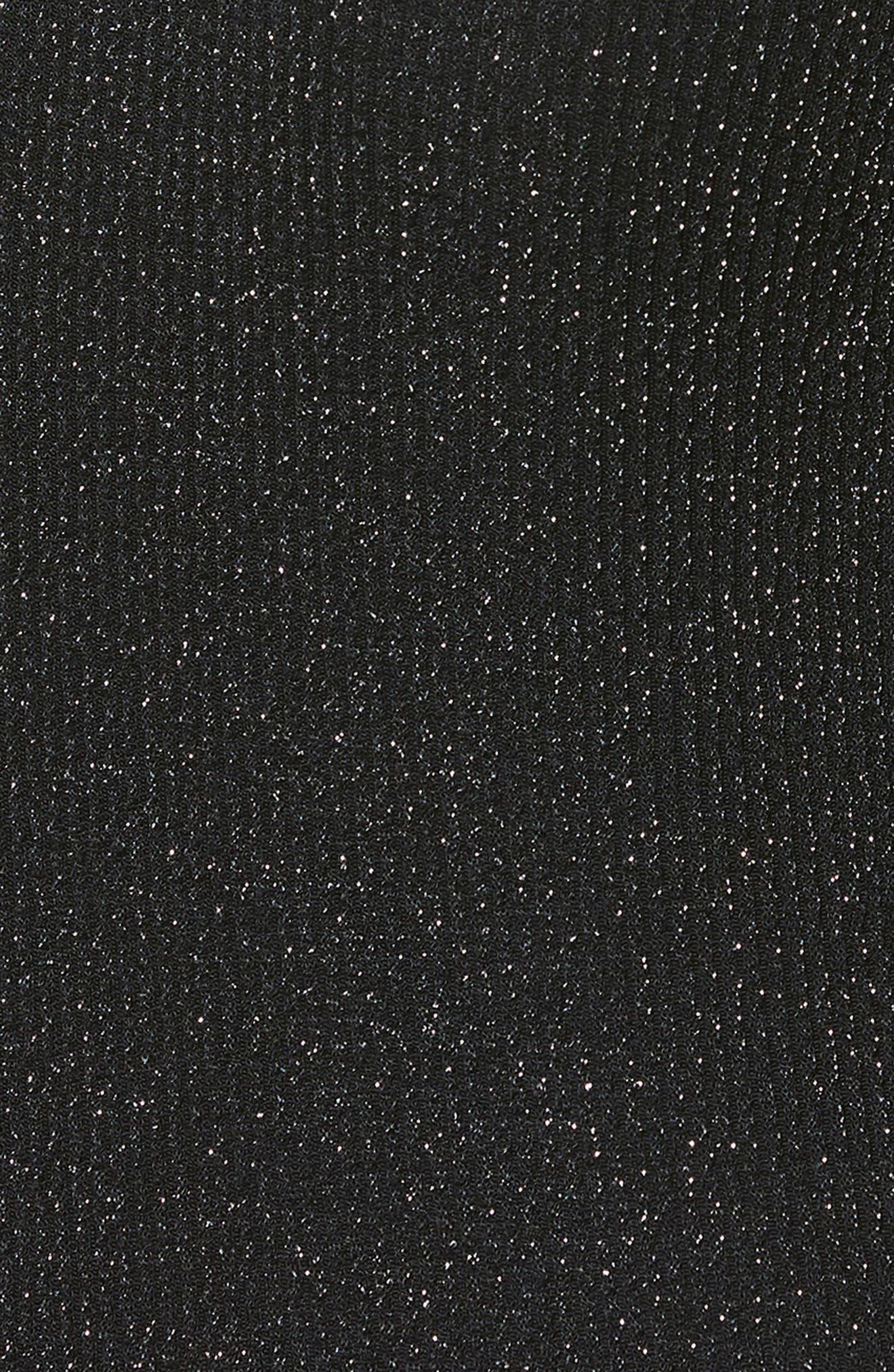 Samina Metallic Bodysuit,                             Alternate thumbnail 3, color,                             METALLIC BLACK