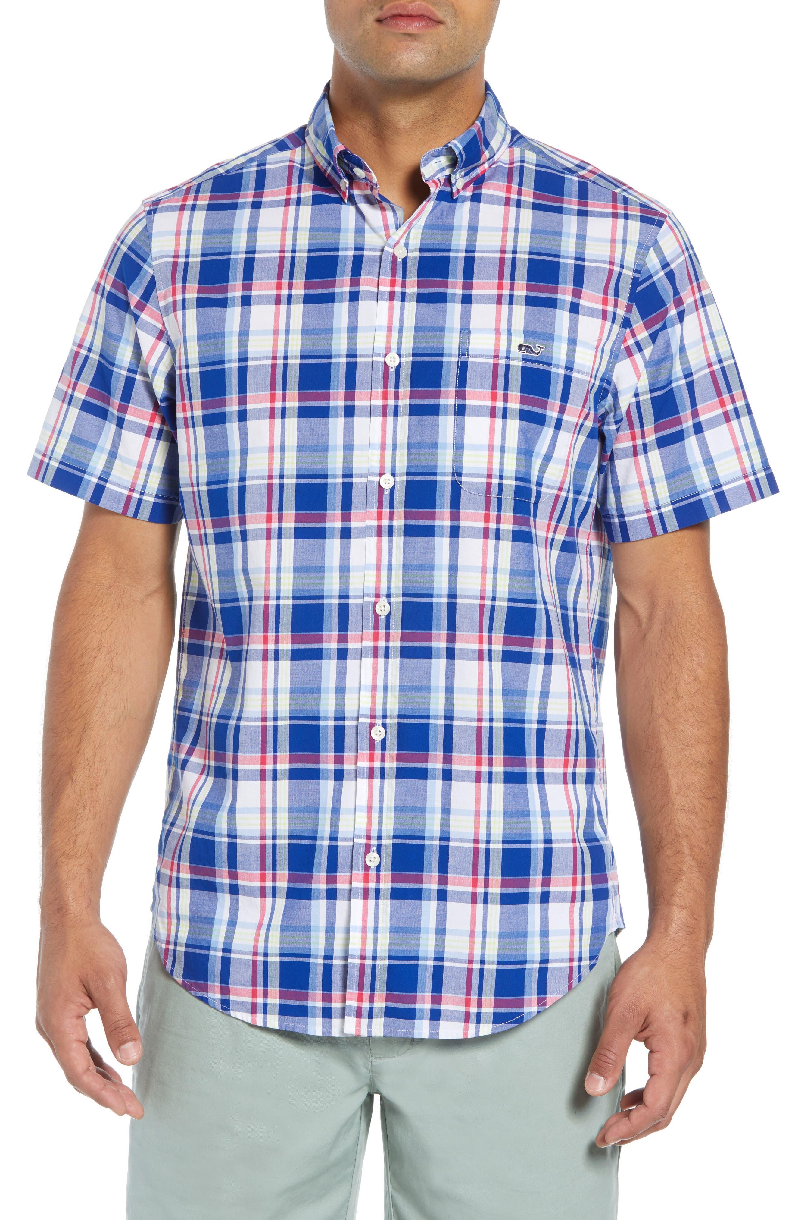 Classic Tucker Regular Fit Plaid Sport Shirt,                         Main,                         color, 461