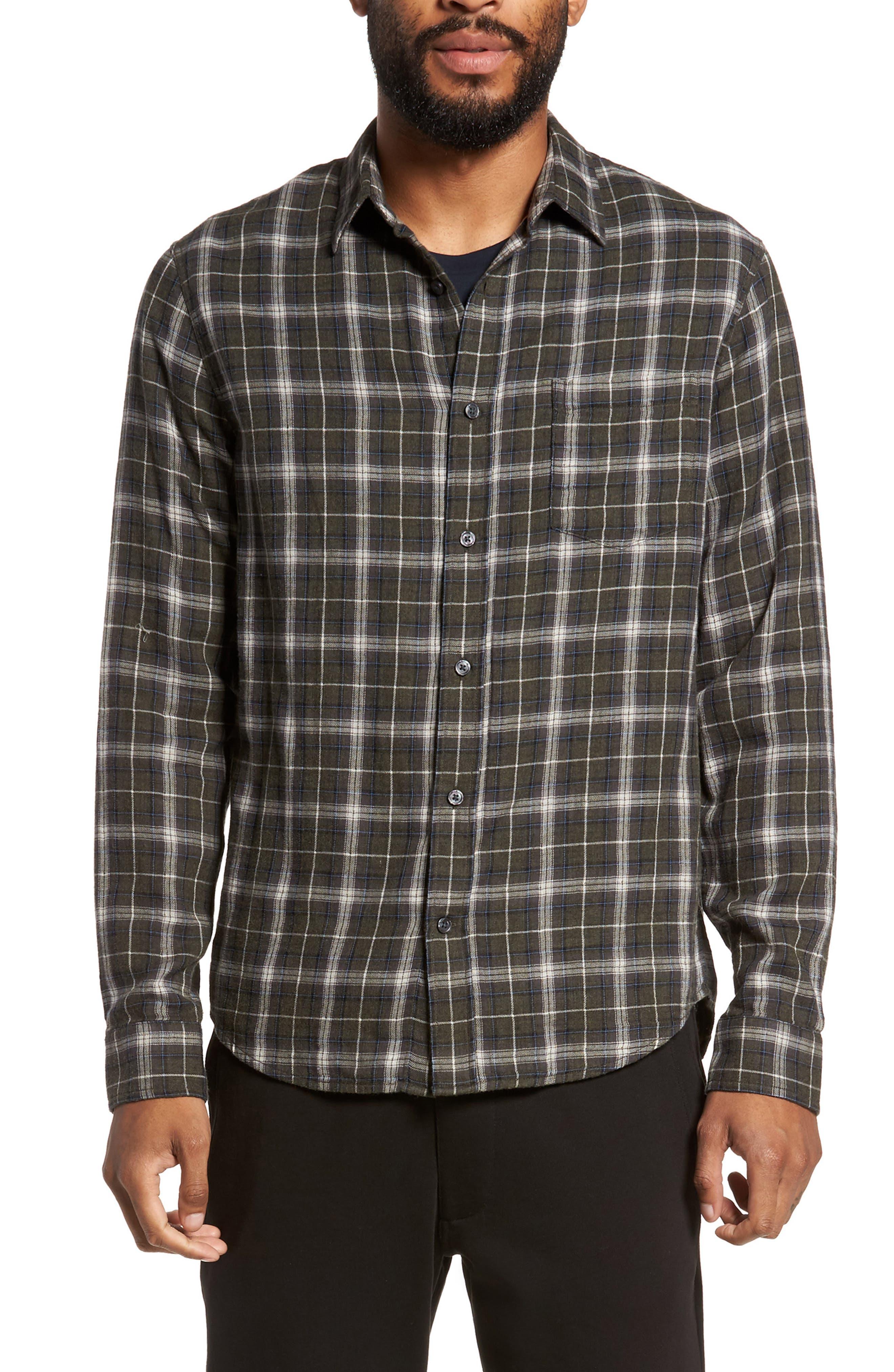 Plaid Double Face Sport Shirt,                         Main,                         color, 200