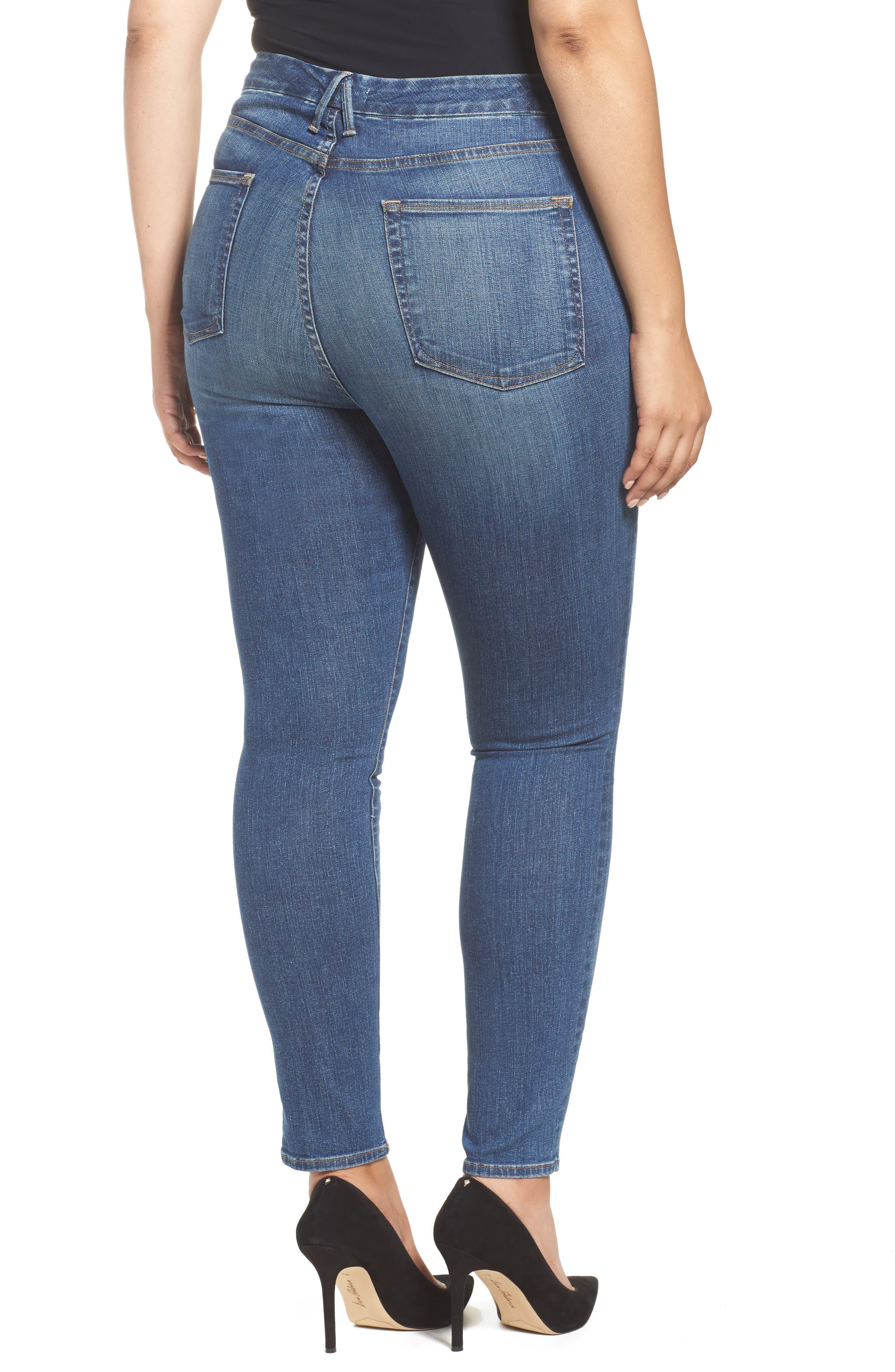 Good Waist High Waist Skinny Jeans,                             Alternate thumbnail 4, color,