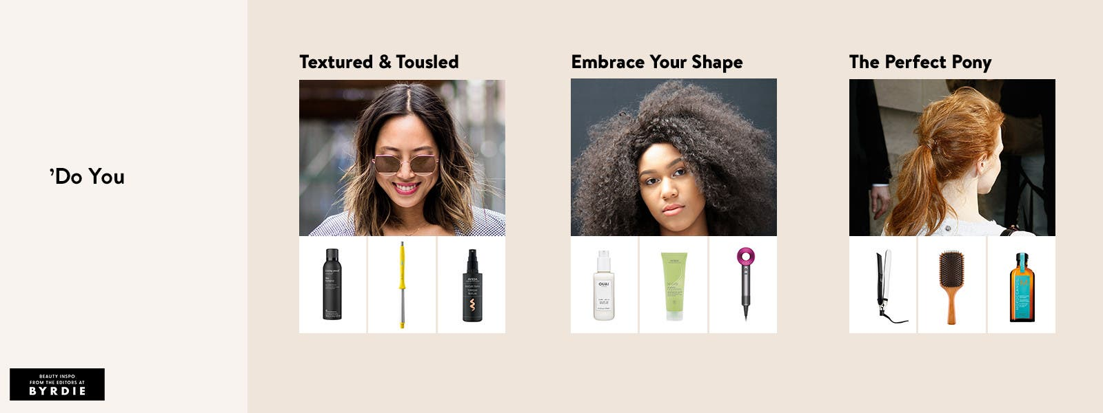 'Do you: textured and tousled, embrace your shape and the perfect pony