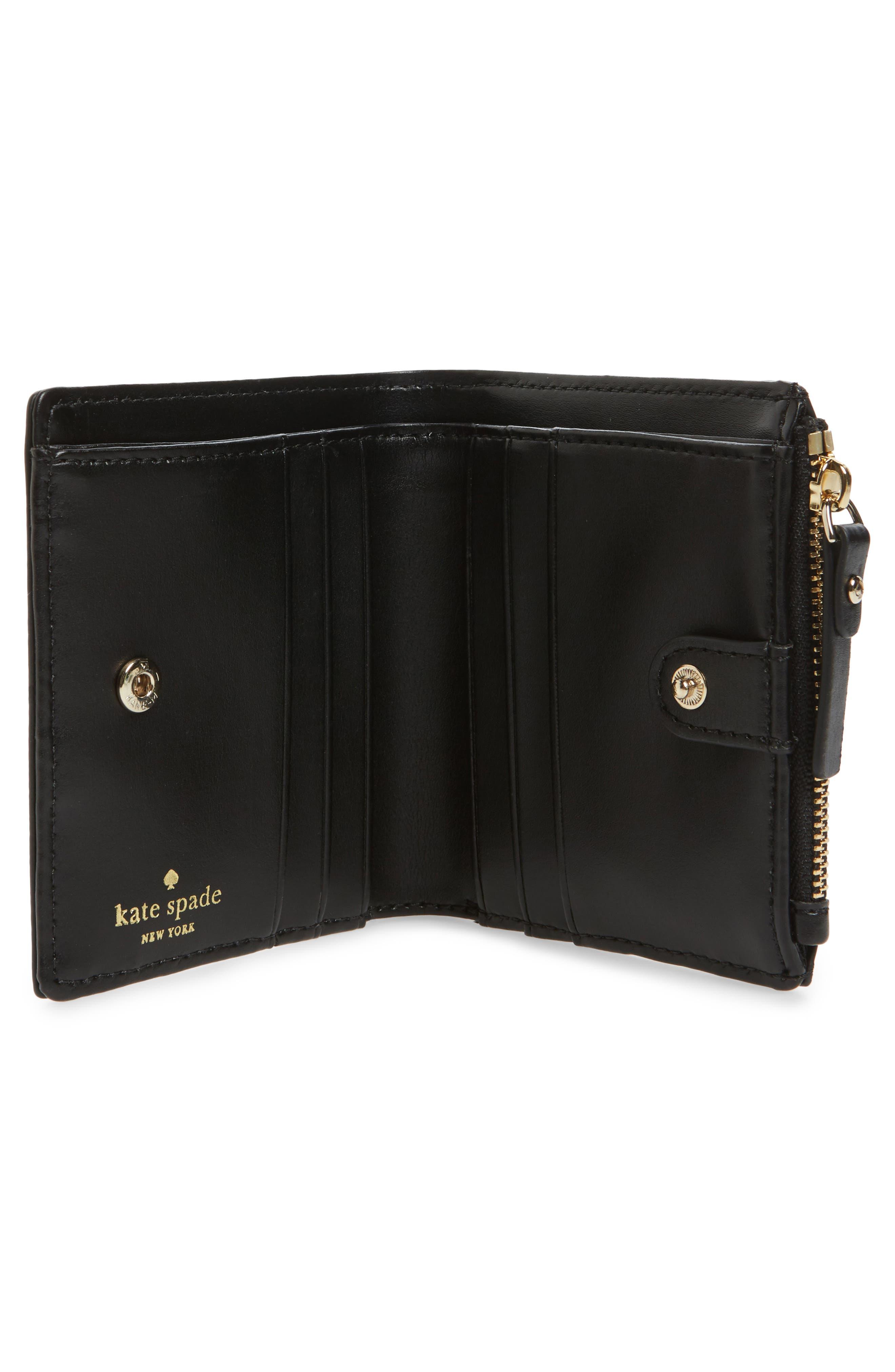 hyde lane poppy adalyn leather wallet,                             Alternate thumbnail 2, color,                             001