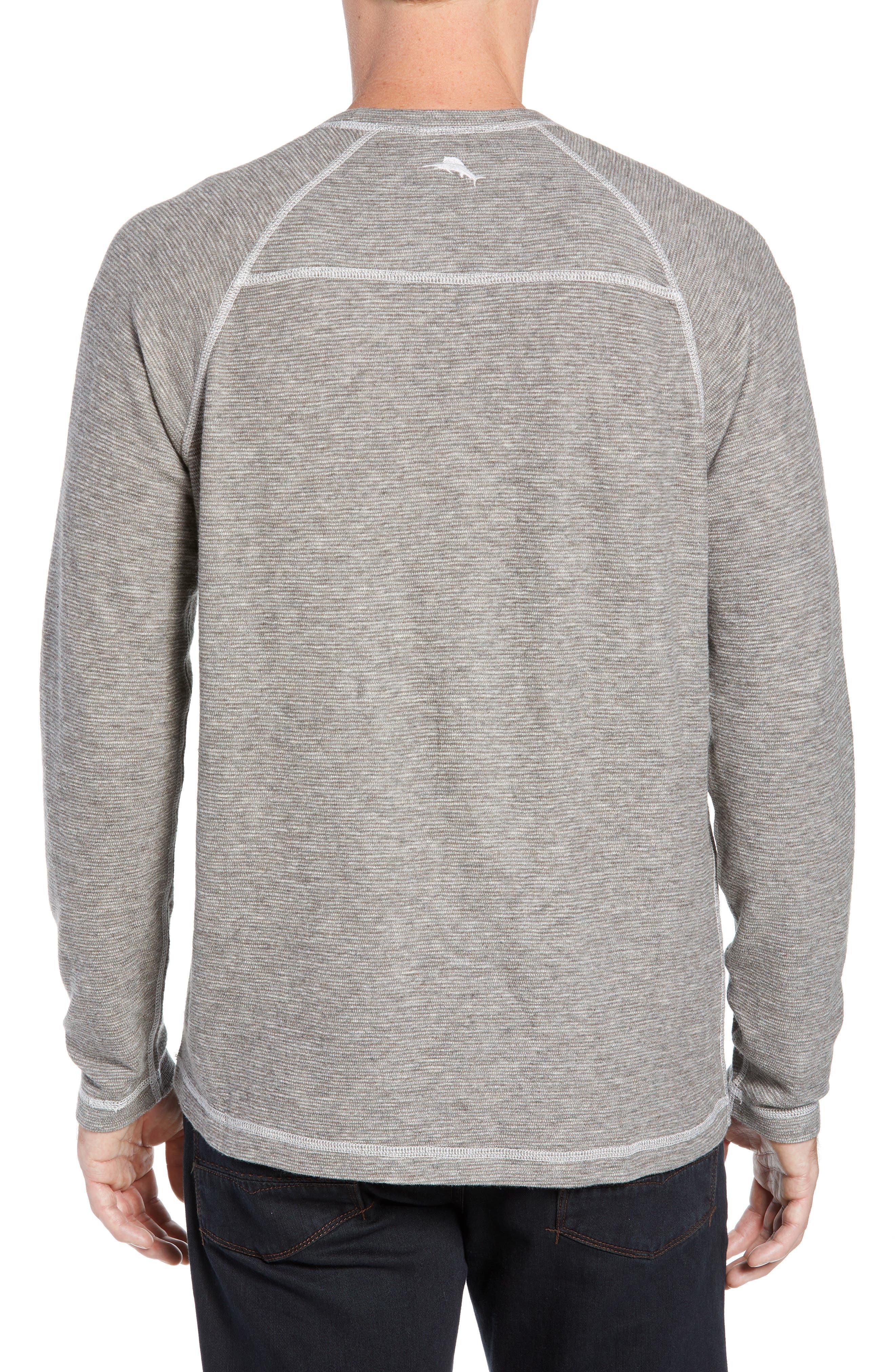 Fortuna Flip Regular Fit Shirt,                             Alternate thumbnail 3, color,                             TAUPE HEATHER