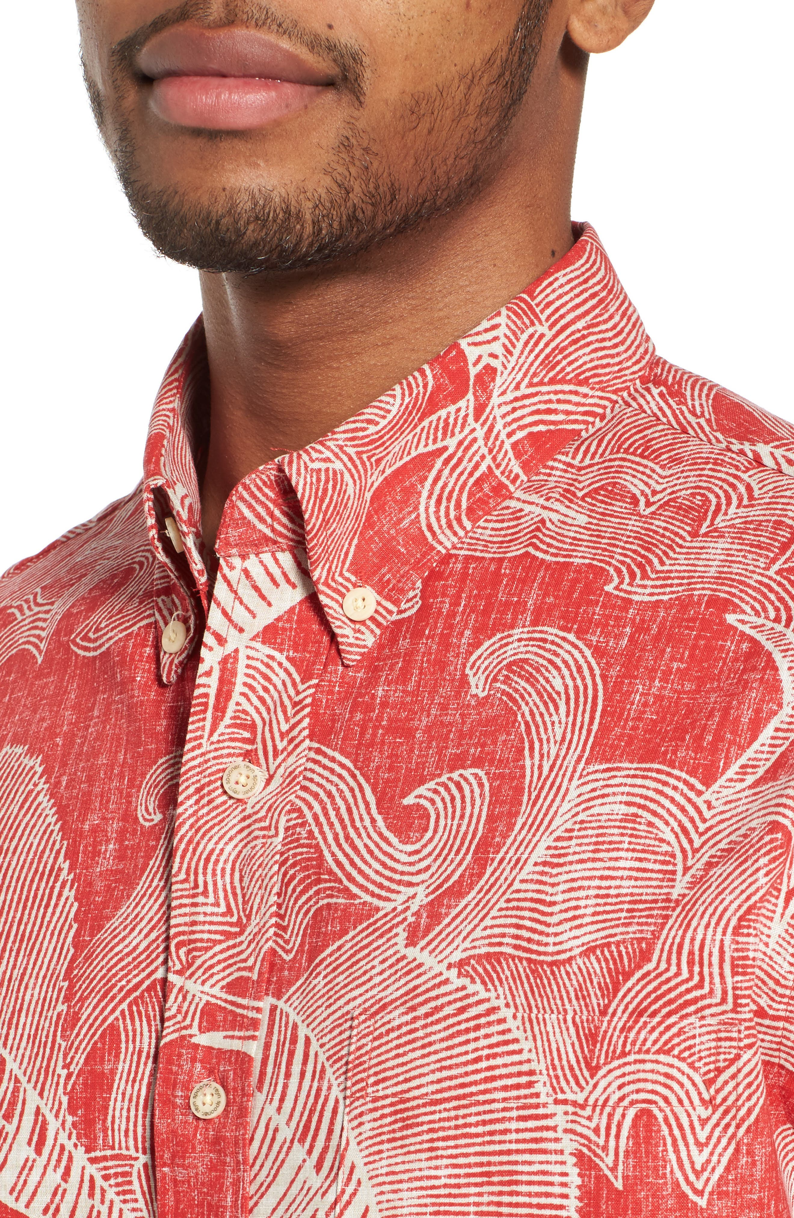 The Search Tailored Fit Print Sport Shirt,                             Alternate thumbnail 4, color,                             622