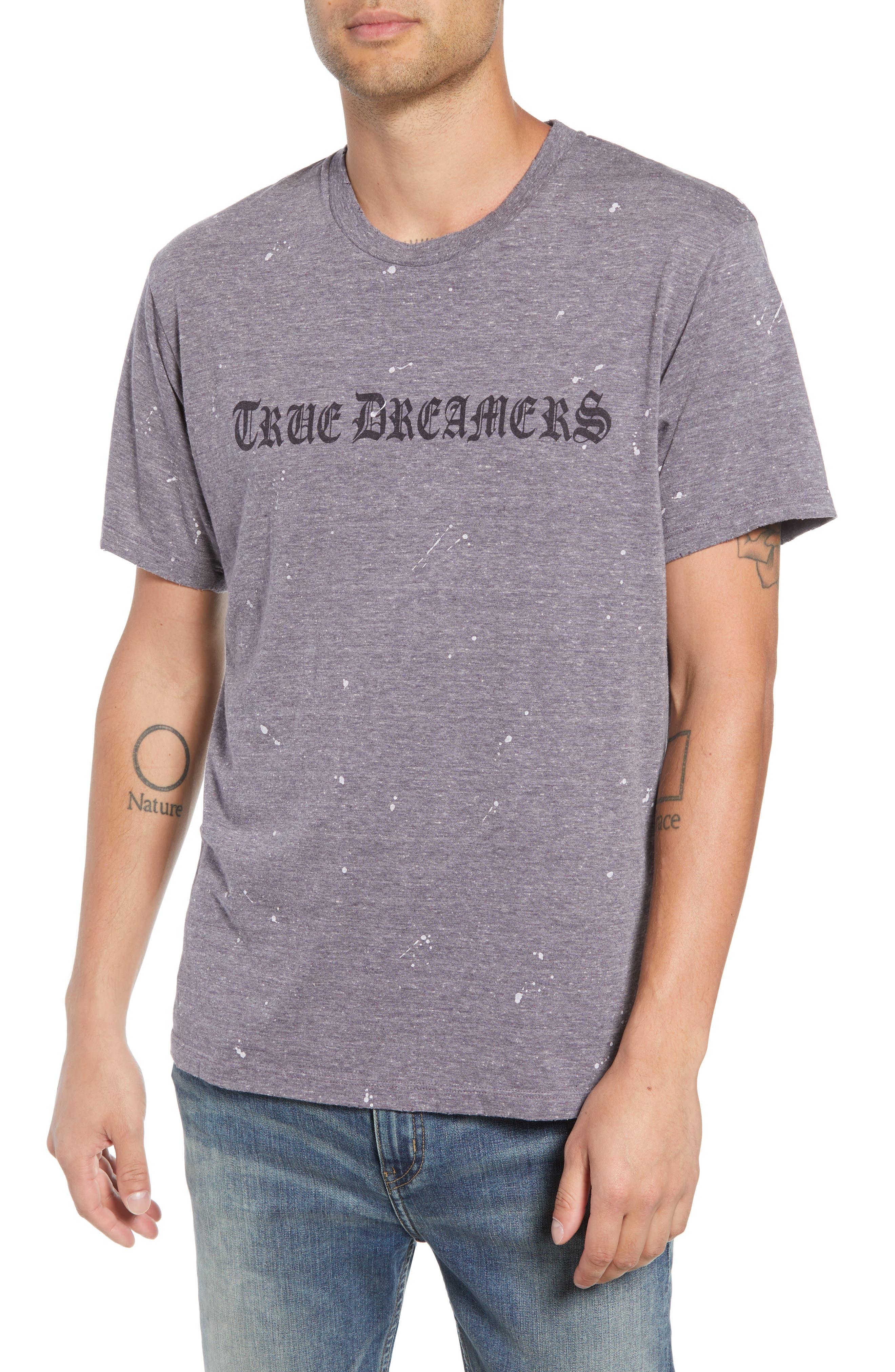 Transcript T-Shirt,                             Main thumbnail 1, color,                             GREY