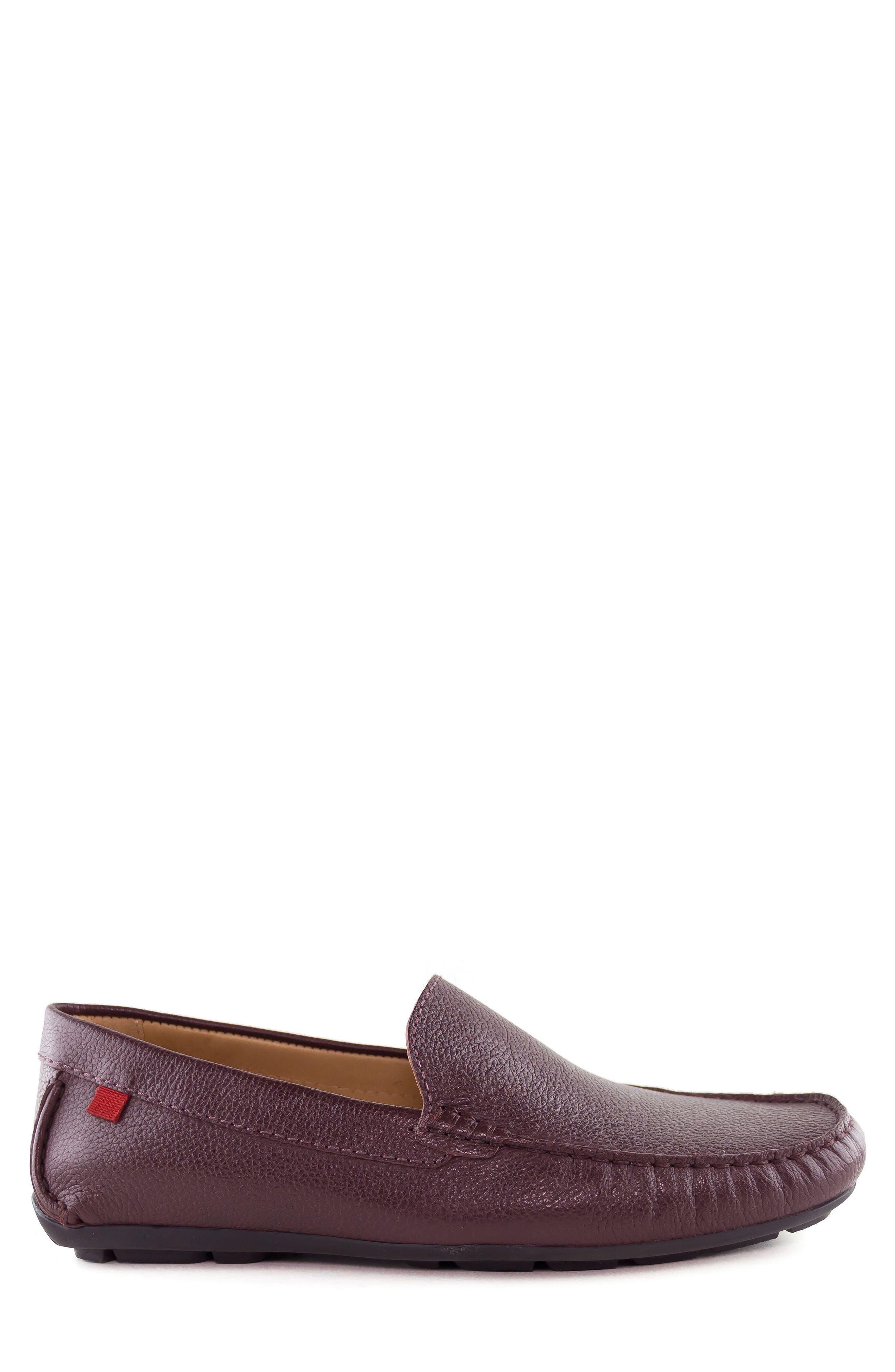 Venetian Driving Loafer,                             Alternate thumbnail 3, color,                             WINE GRAINY