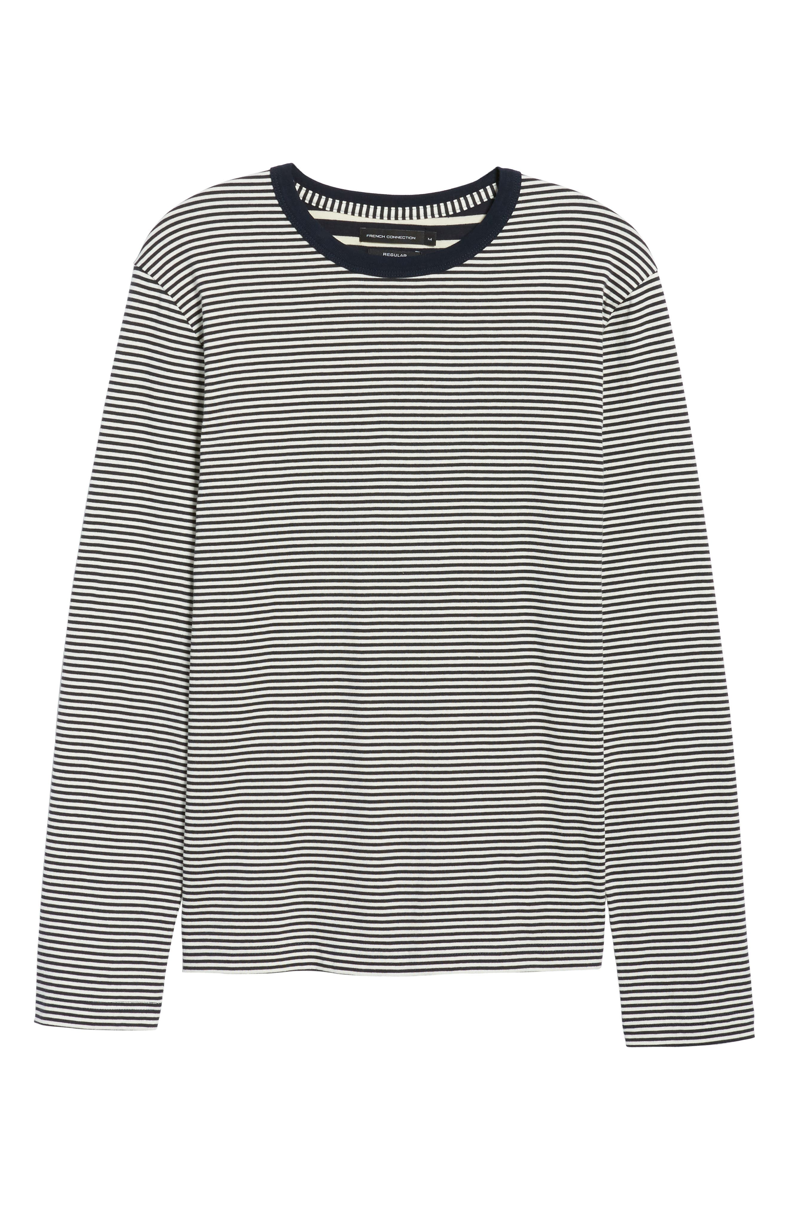 Mix Stripe Long Sleeve T-Shirt,                             Alternate thumbnail 6, color,                             020