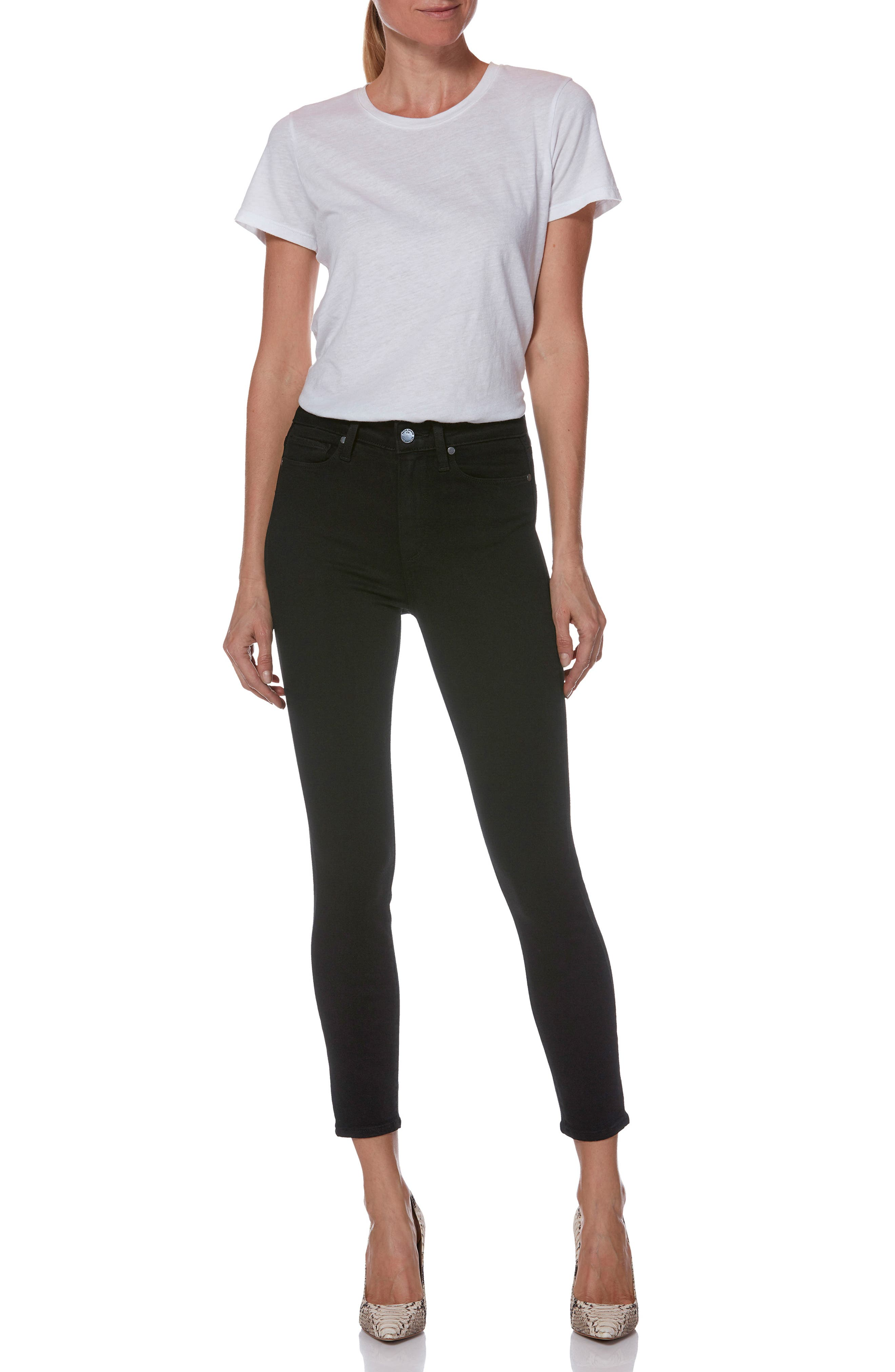 Transcend - Margot High Waist Crop Ultra Skinny Jeans,                             Alternate thumbnail 8, color,                             001