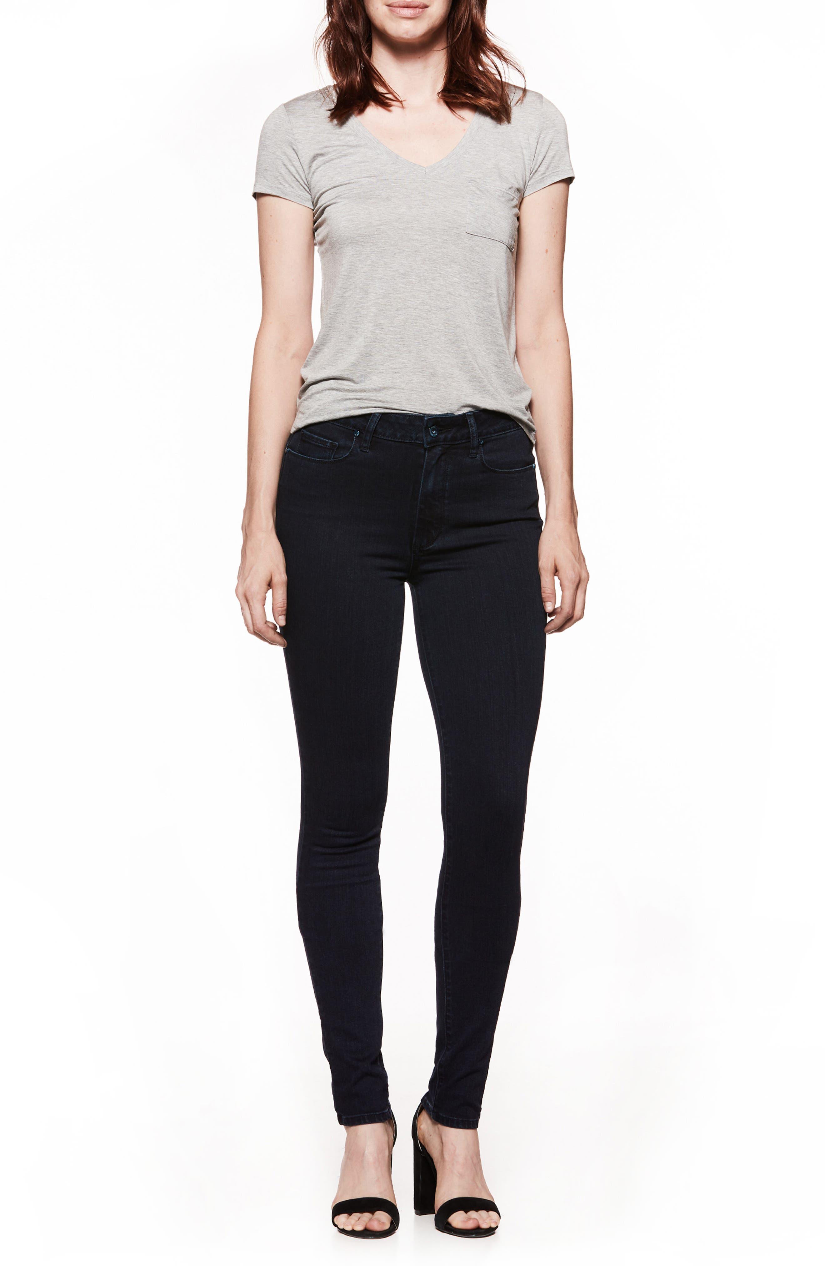Transcend - Leggy High Waist Ultra Skinny Jeans,                             Alternate thumbnail 3, color,                             ALLEY