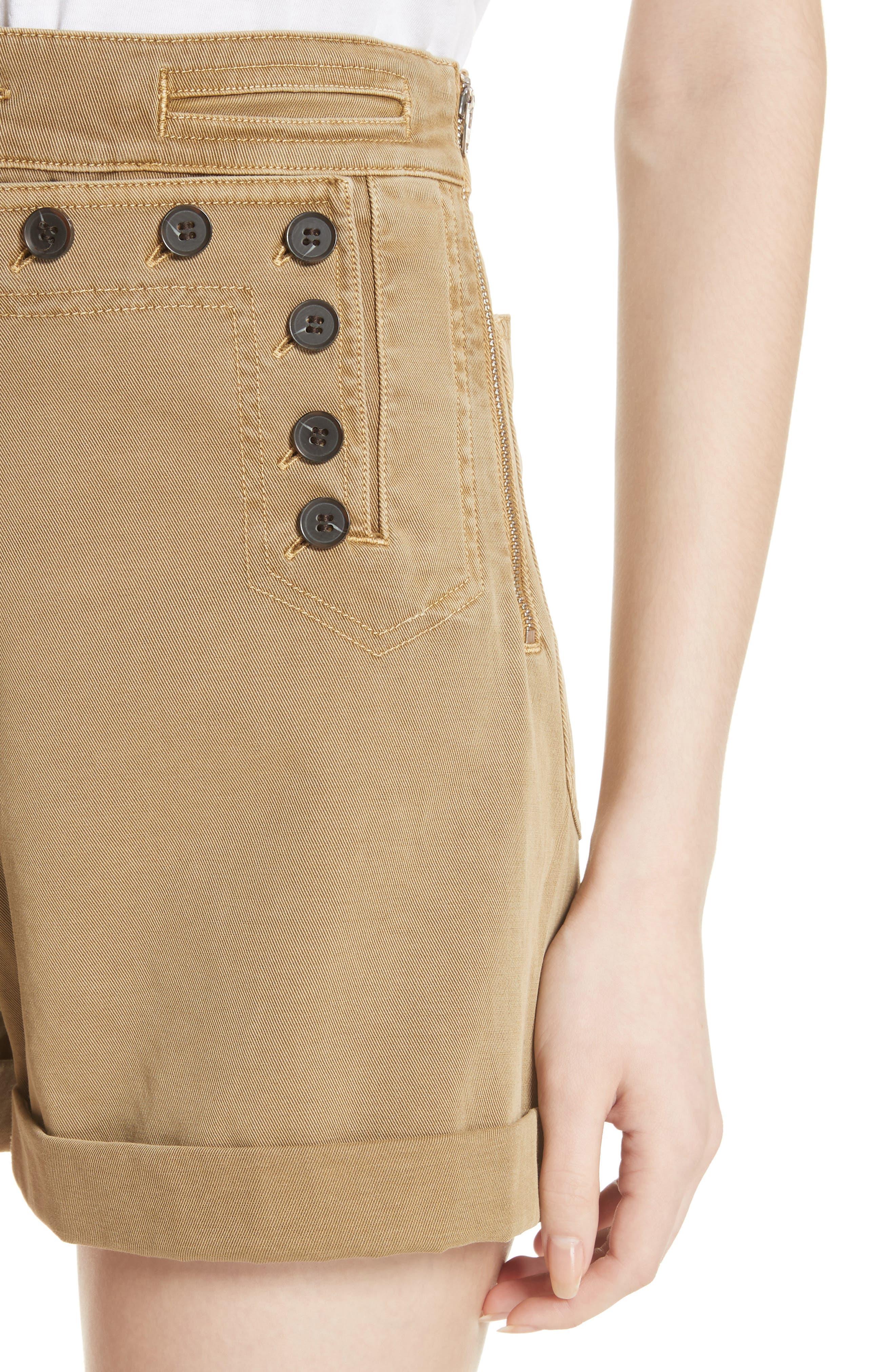 Pierce High Waist Sailor Shorts,                             Alternate thumbnail 4, color,