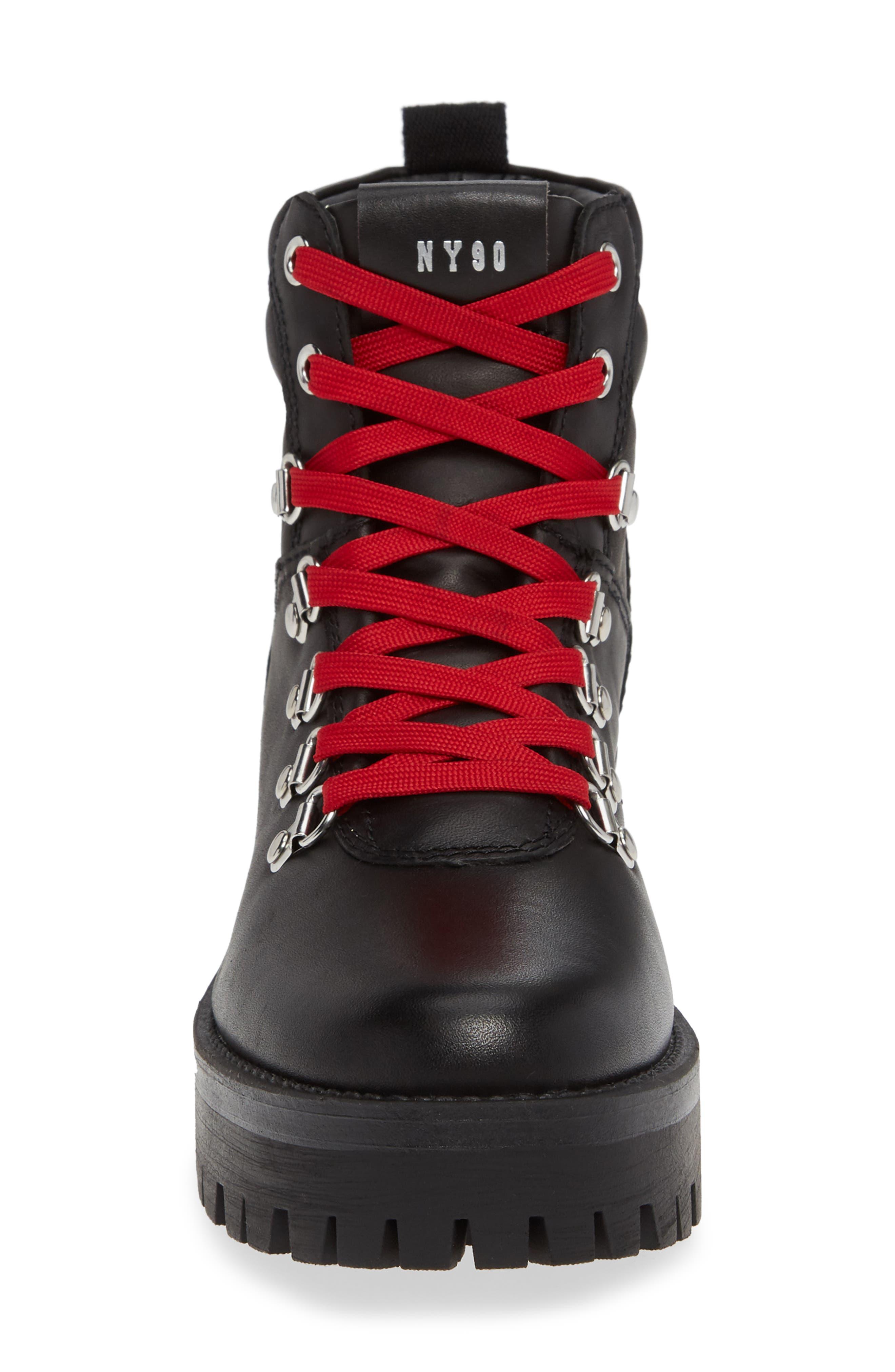 Buzzer Boot,                             Alternate thumbnail 4, color,                             BLACK LEATHER