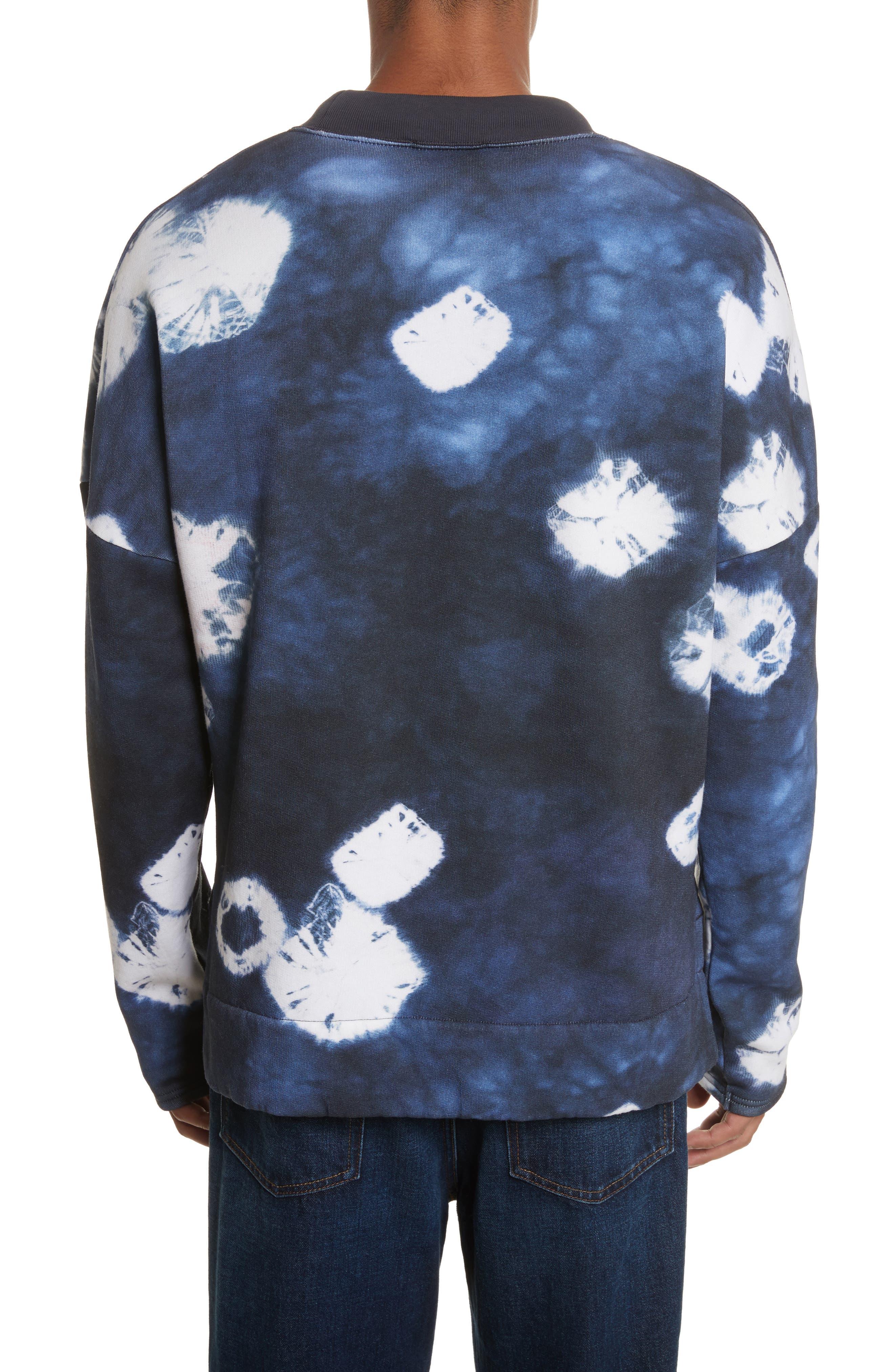 Fellke Bleach Indigo Sweatshirt,                             Alternate thumbnail 2, color,                             410