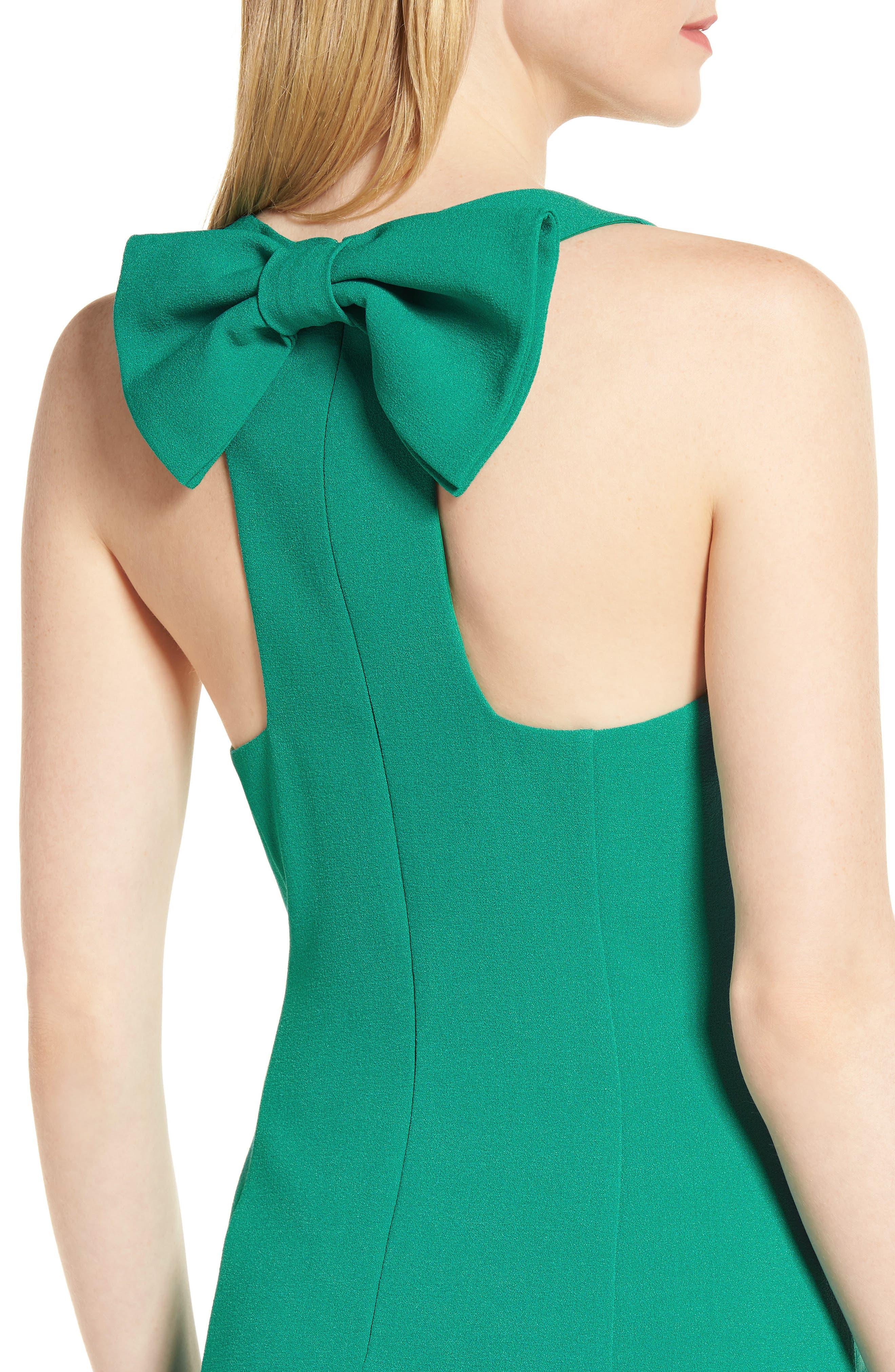 Bow Back Sheath Dress,                             Alternate thumbnail 12, color,