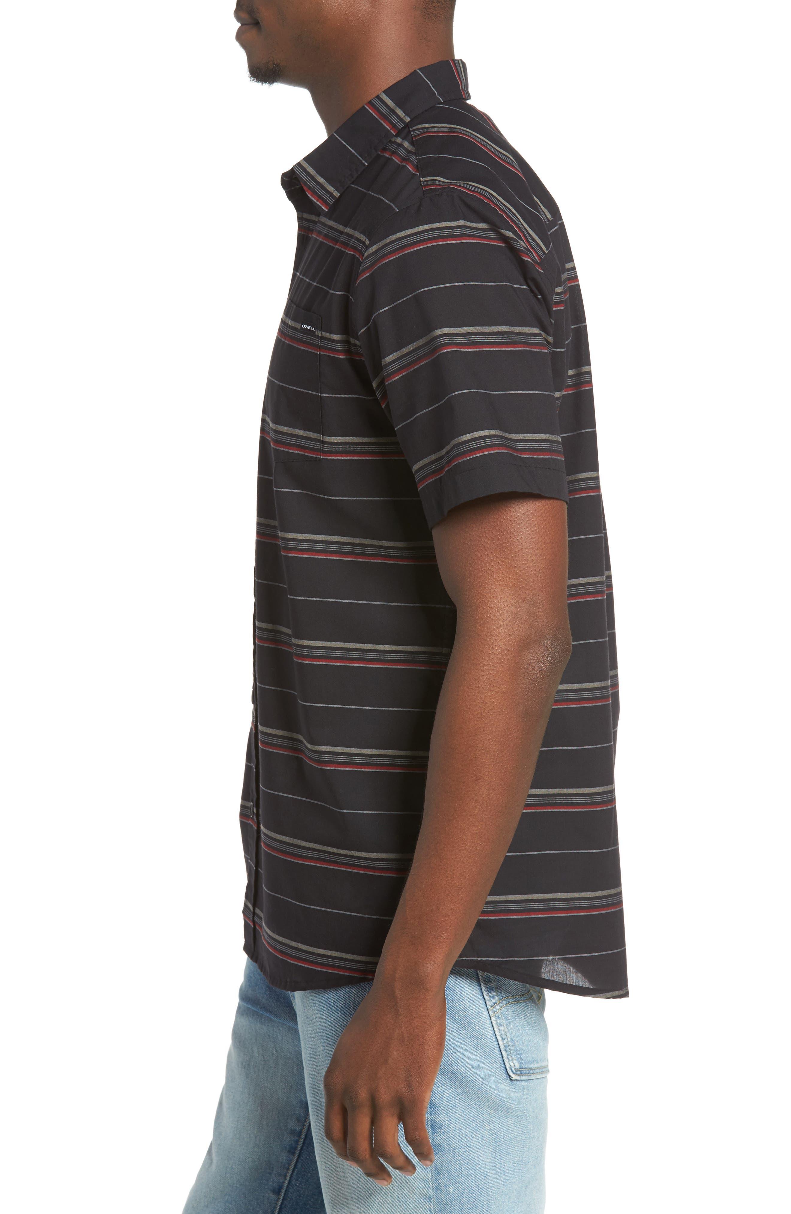 Striped Woven Shirt,                             Alternate thumbnail 8, color,