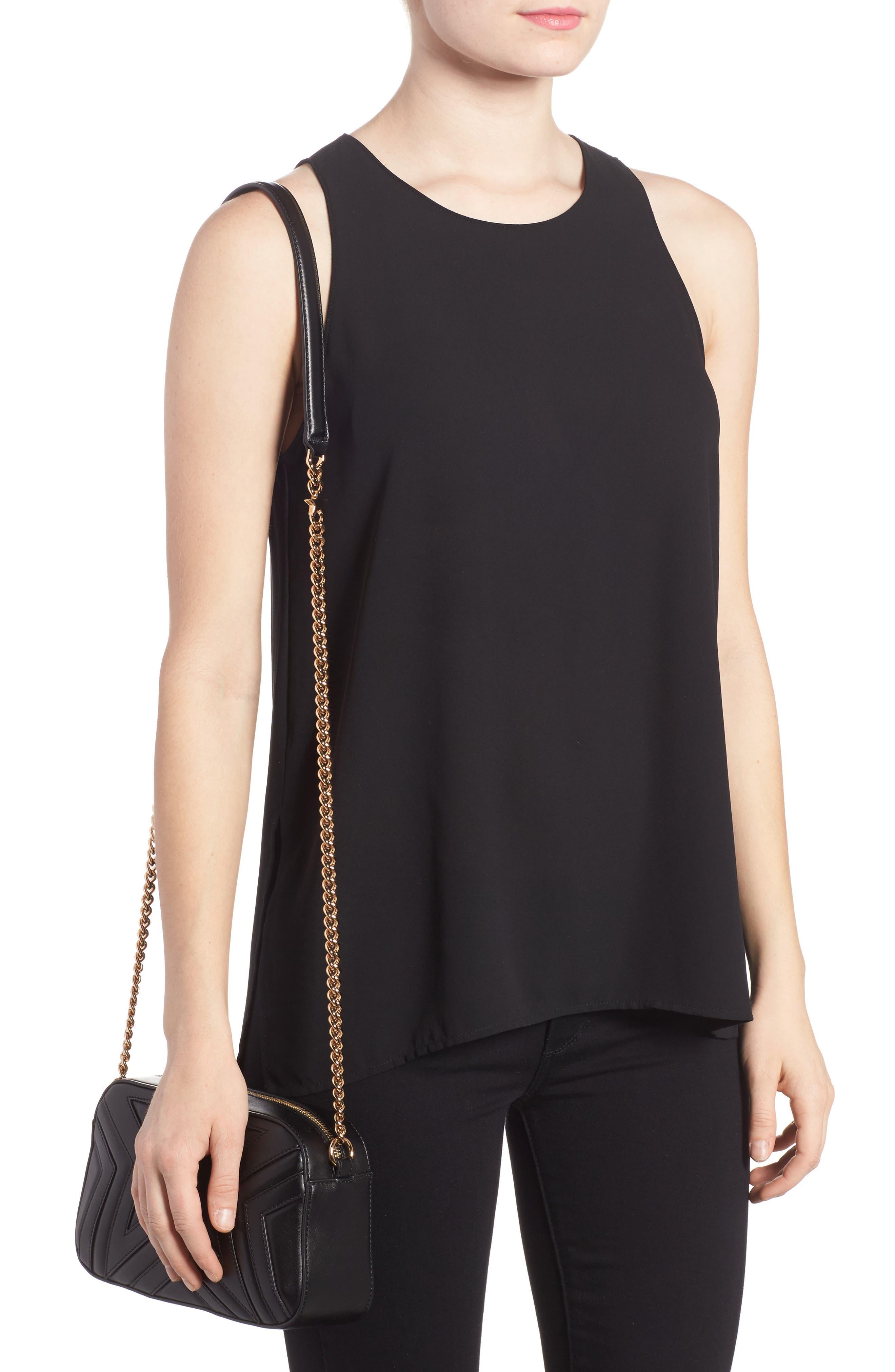 Alter Nappa Faux Leather Shoulder Bag,                             Alternate thumbnail 2, color,                             BLACK
