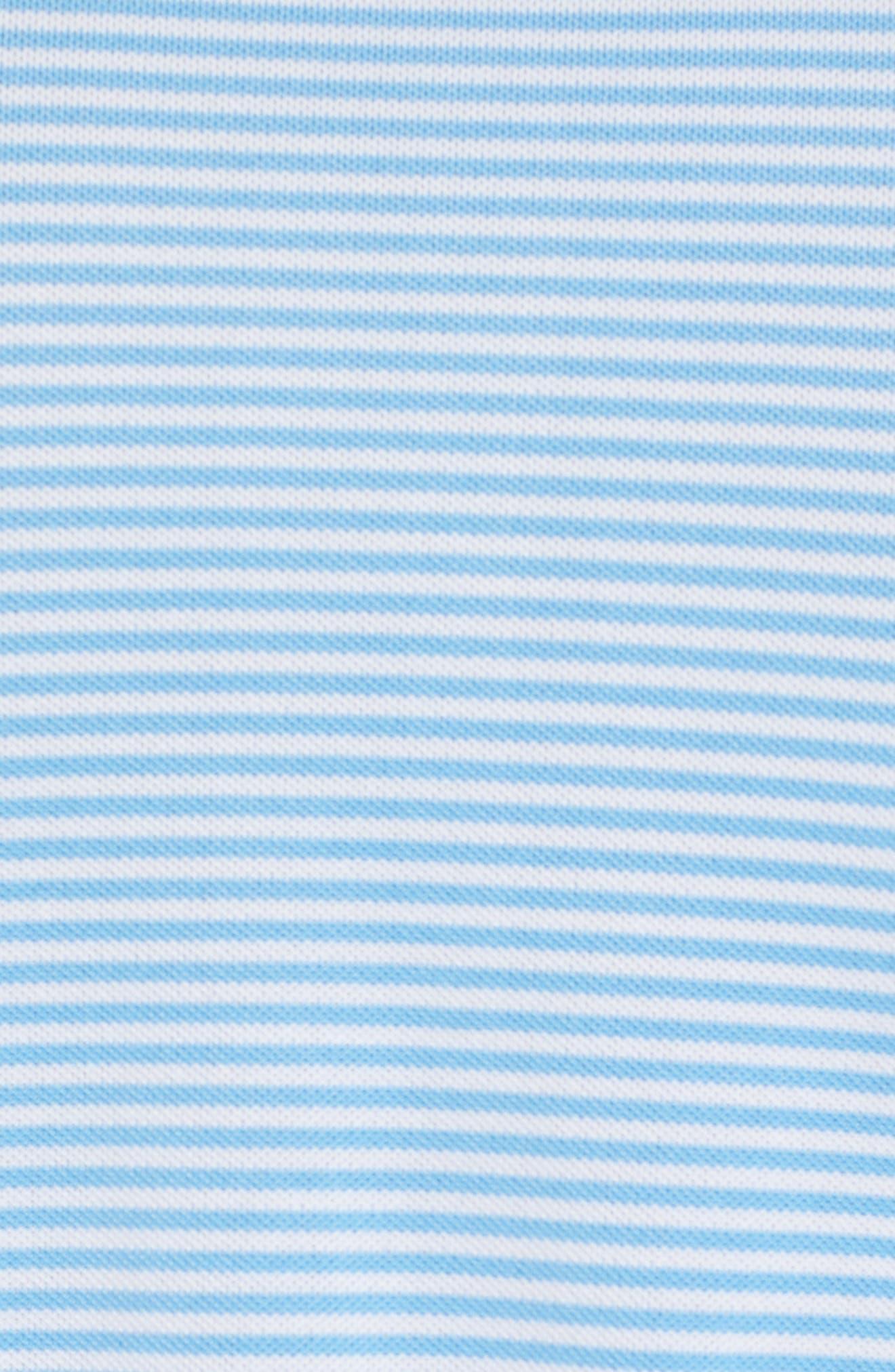 Regular Fit Stripe Stretch Polo,                             Alternate thumbnail 5, color,                             107