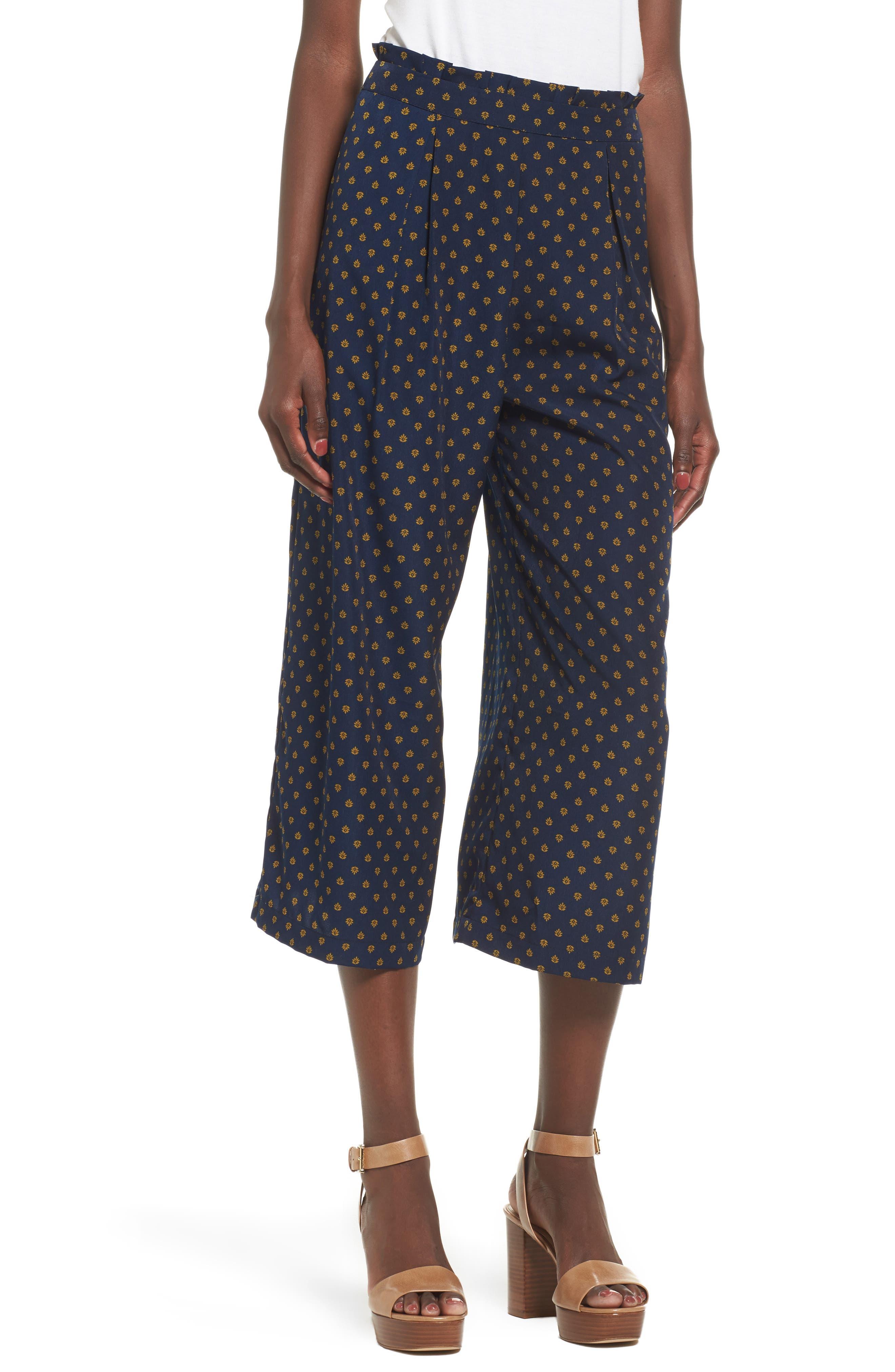 Wide Leg Culottes,                         Main,                         color, 400