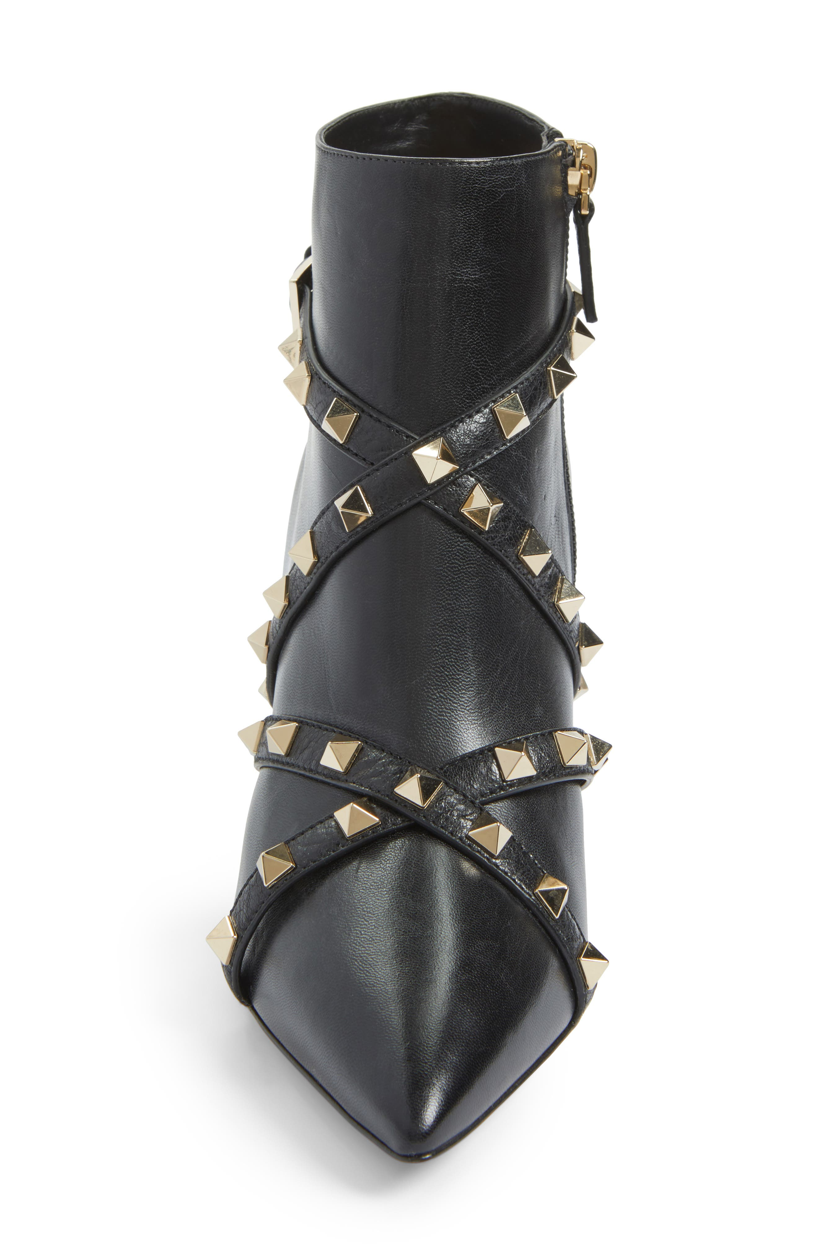 Rockstud Wrapped Bootie,                             Alternate thumbnail 4, color,                             001