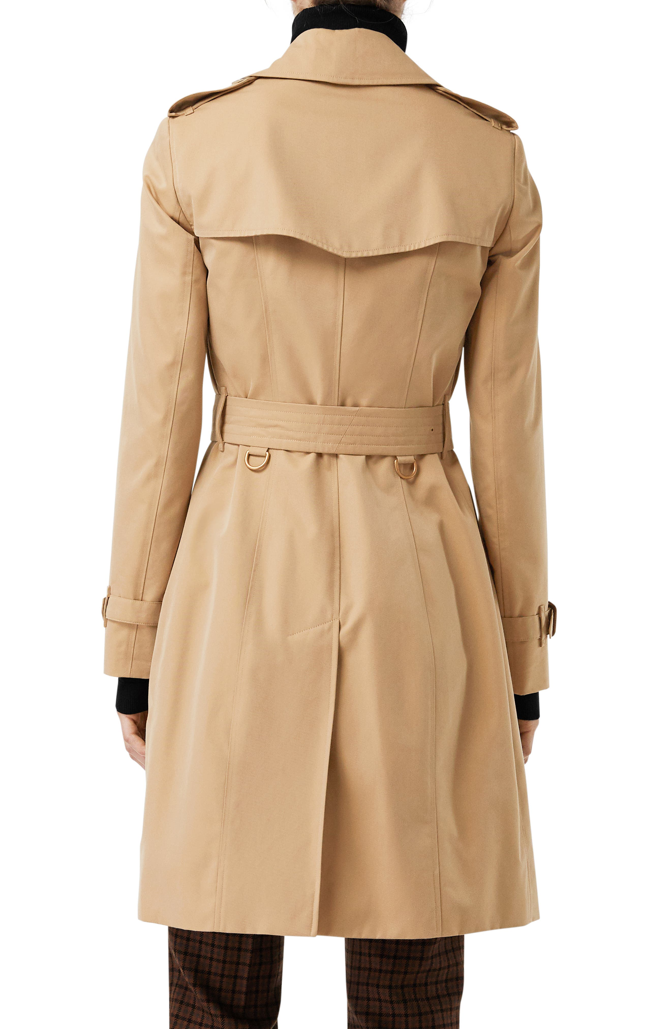 The Chelsea Slim Fit Heritage Trench Coat,                             Alternate thumbnail 2, color,                             DARK HONEY