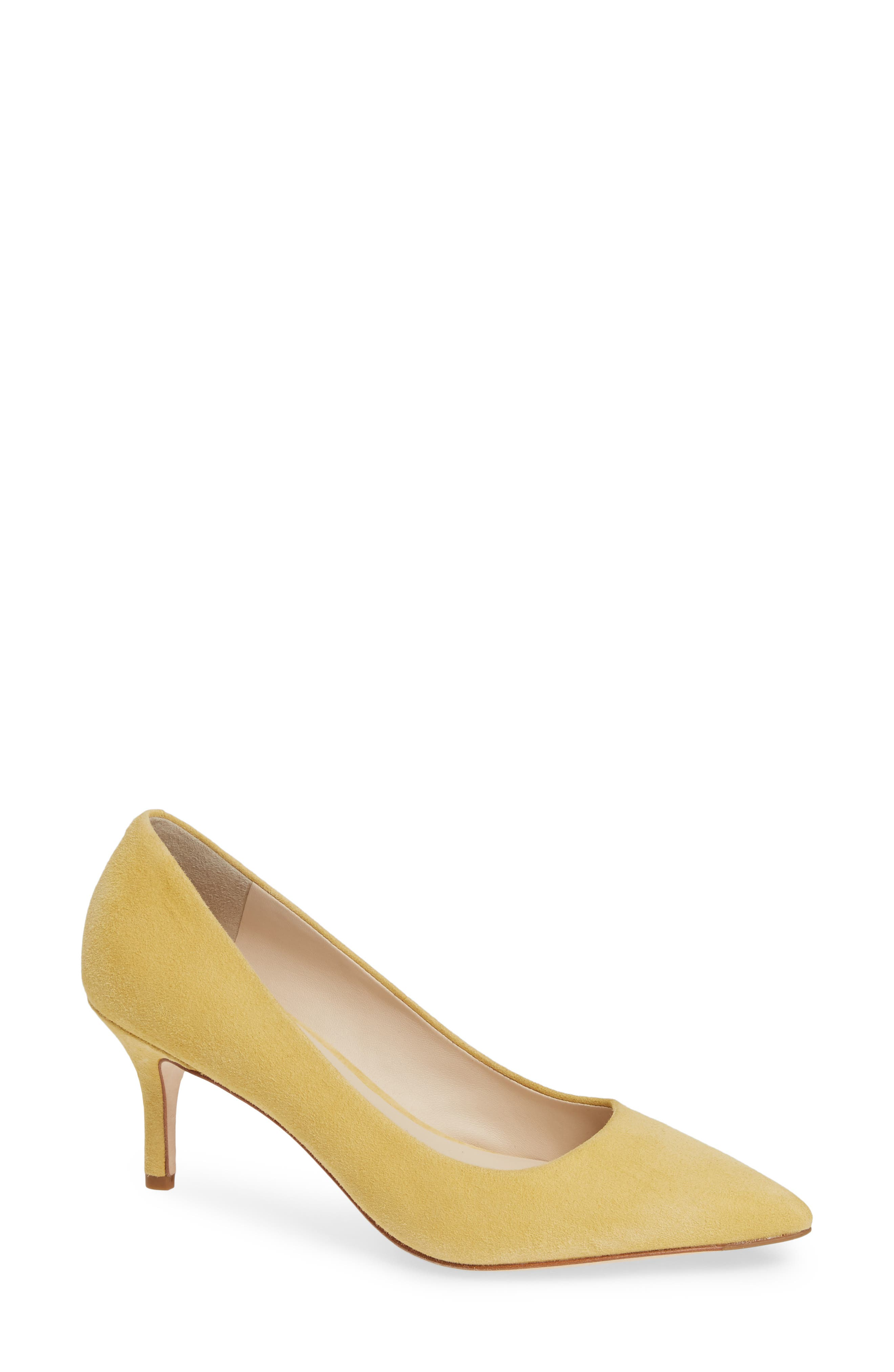 COLE HAAN,                             Vesta Pointy Toe Pump,                             Main thumbnail 1, color,                             SUNSET GOLD SUEDE