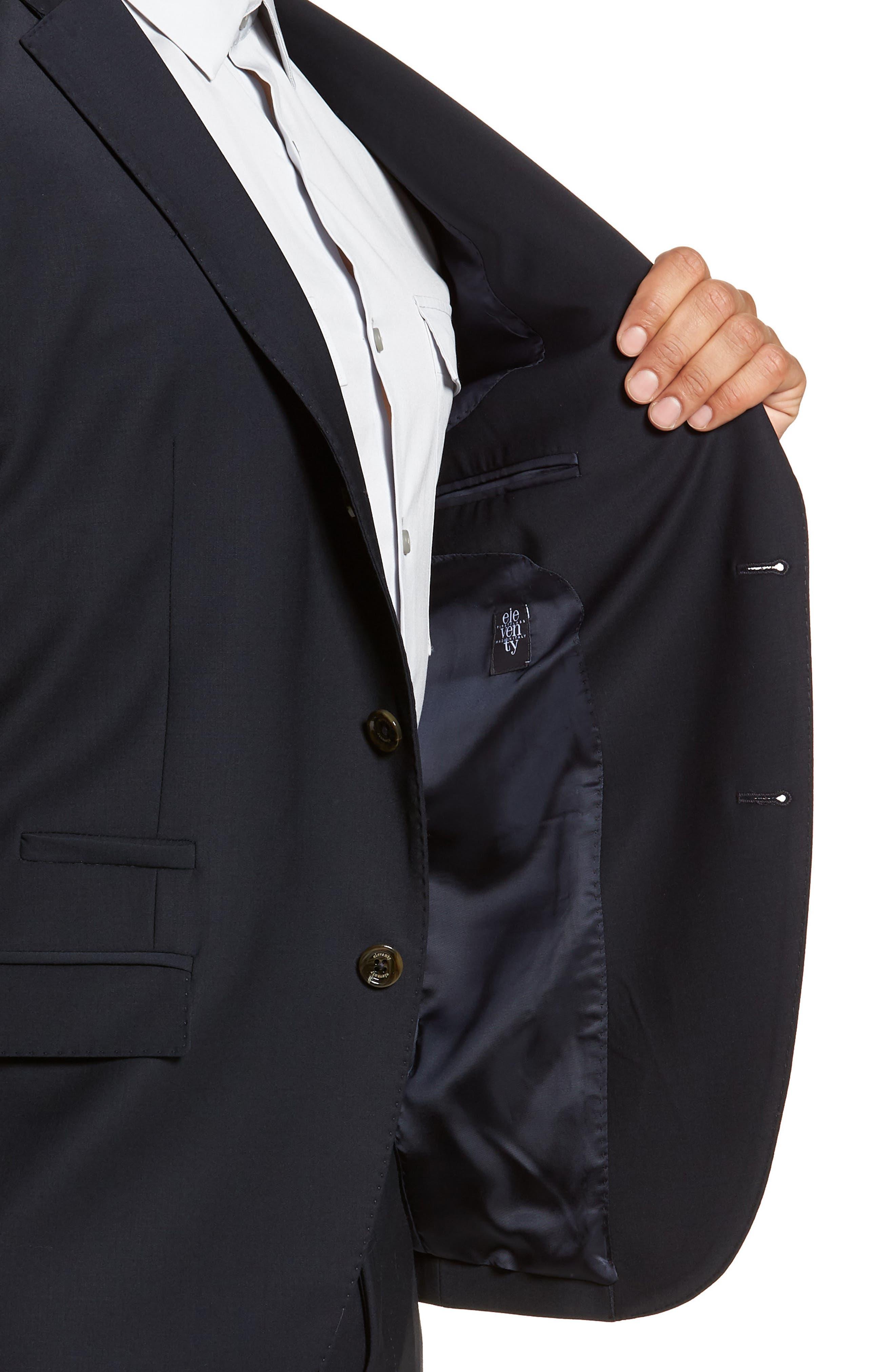 Trim Fit Stretch Wool Suit,                             Alternate thumbnail 8, color,