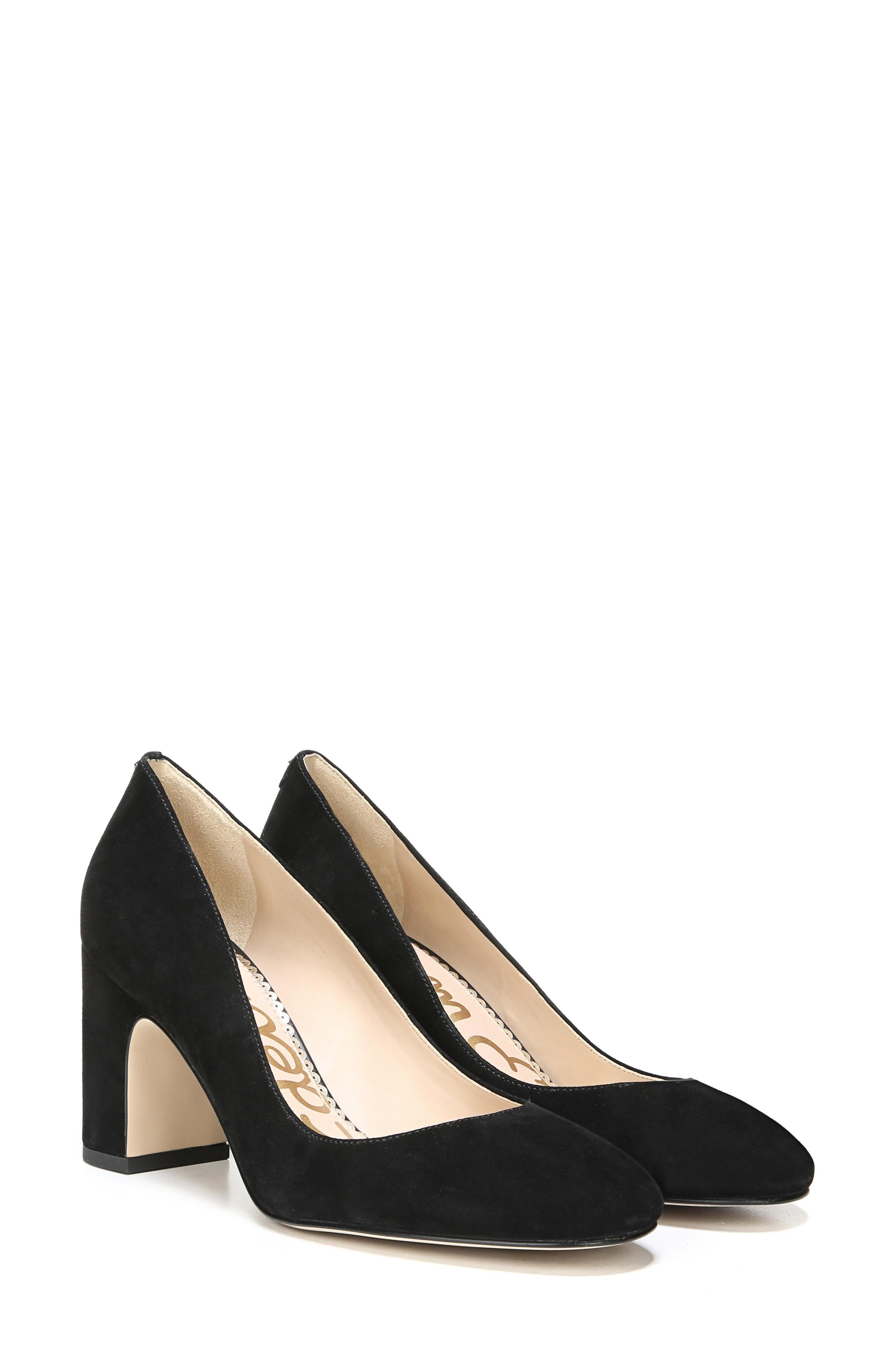 Junie Genuine Calf Hair Pump,                             Alternate thumbnail 8, color,                             001