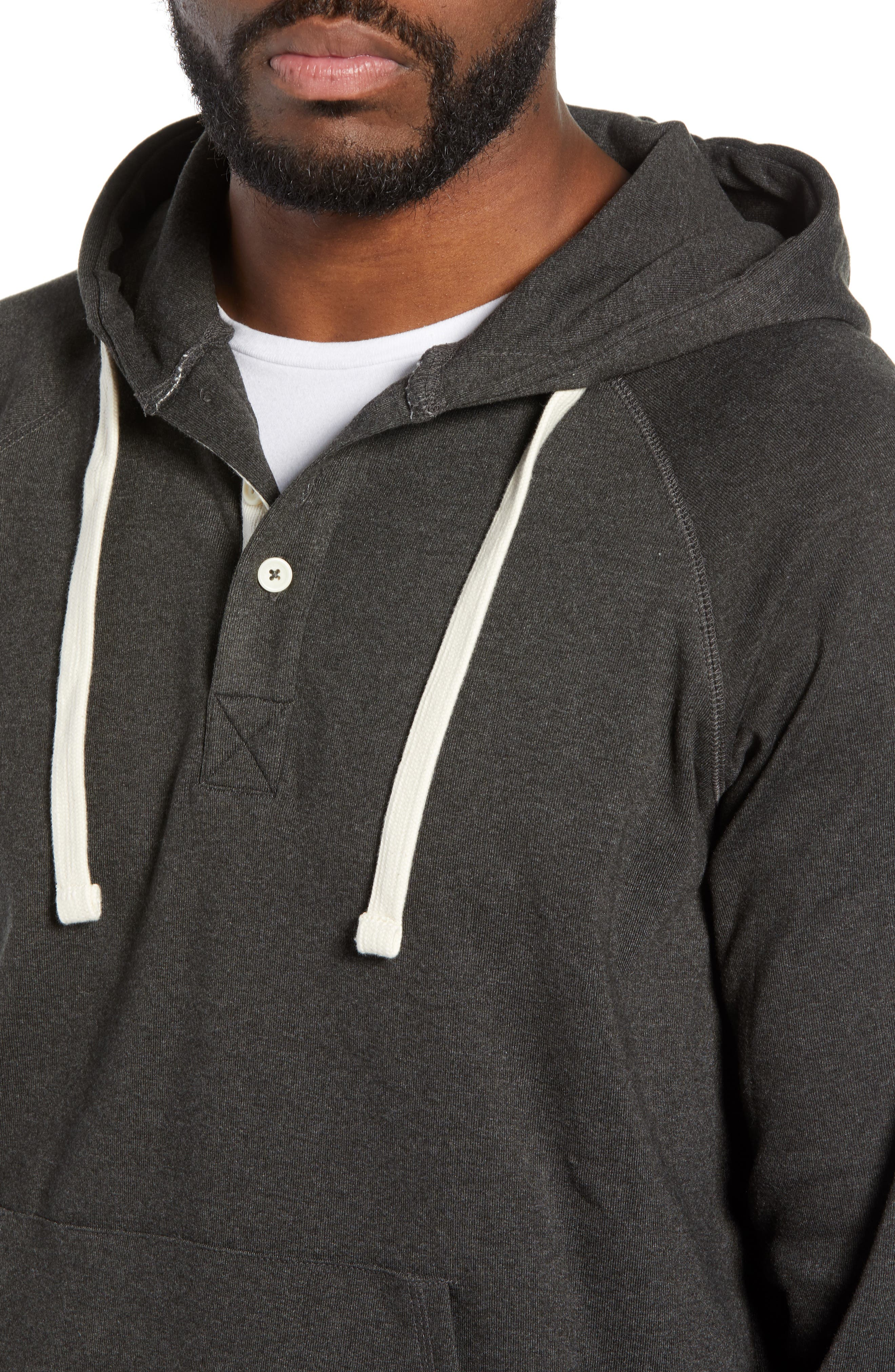 Puremeso Pullover Hoodie,                             Alternate thumbnail 4, color,                             CHARCOAL