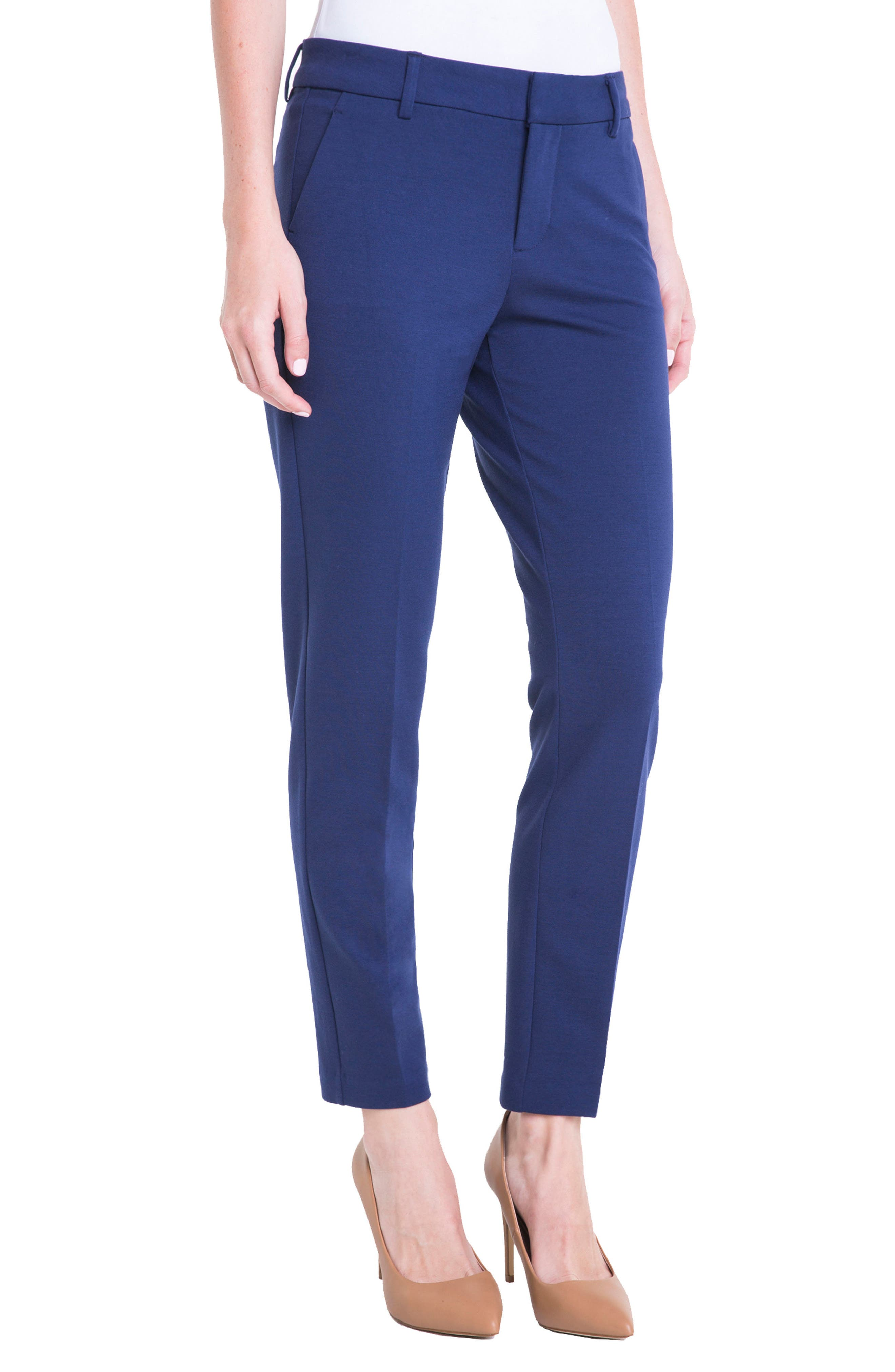 Kelsey Knit Trousers,                             Main thumbnail 1, color,                             MEDIEVAL BLUE