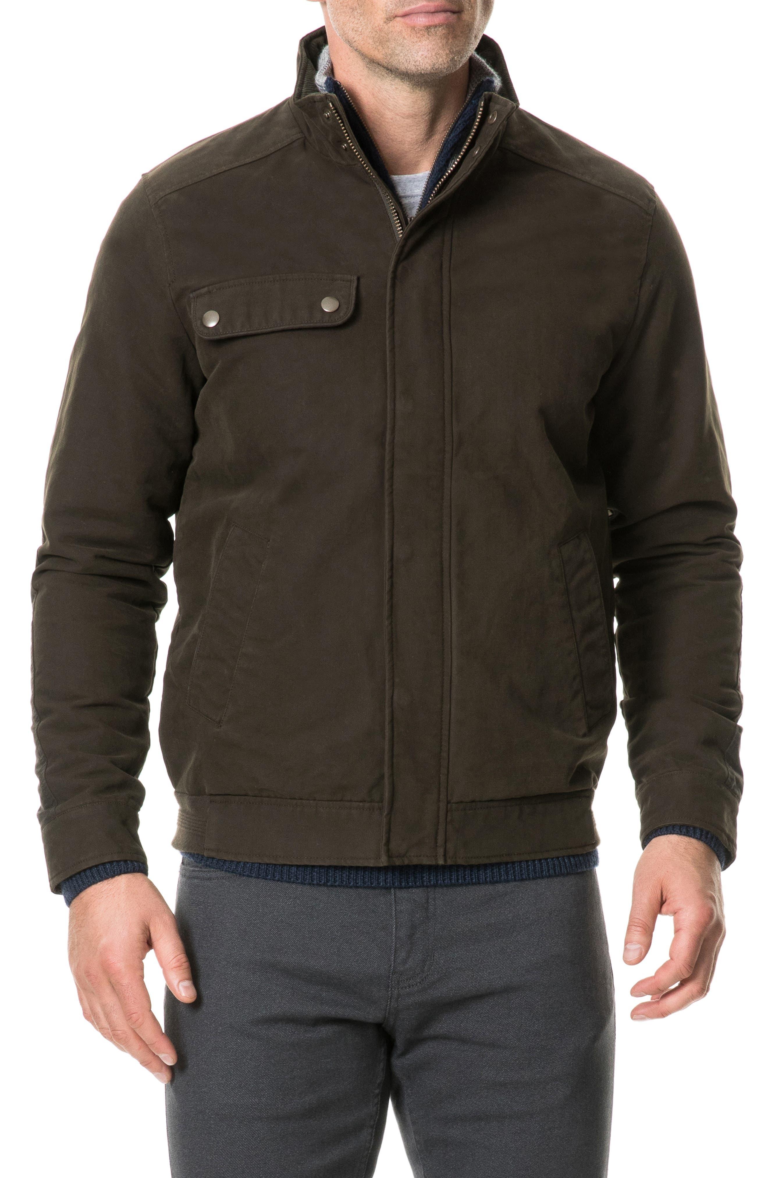 Eskdale Regular Fit Waterproof Bomber Jacket,                         Main,                         color, TOBACCO