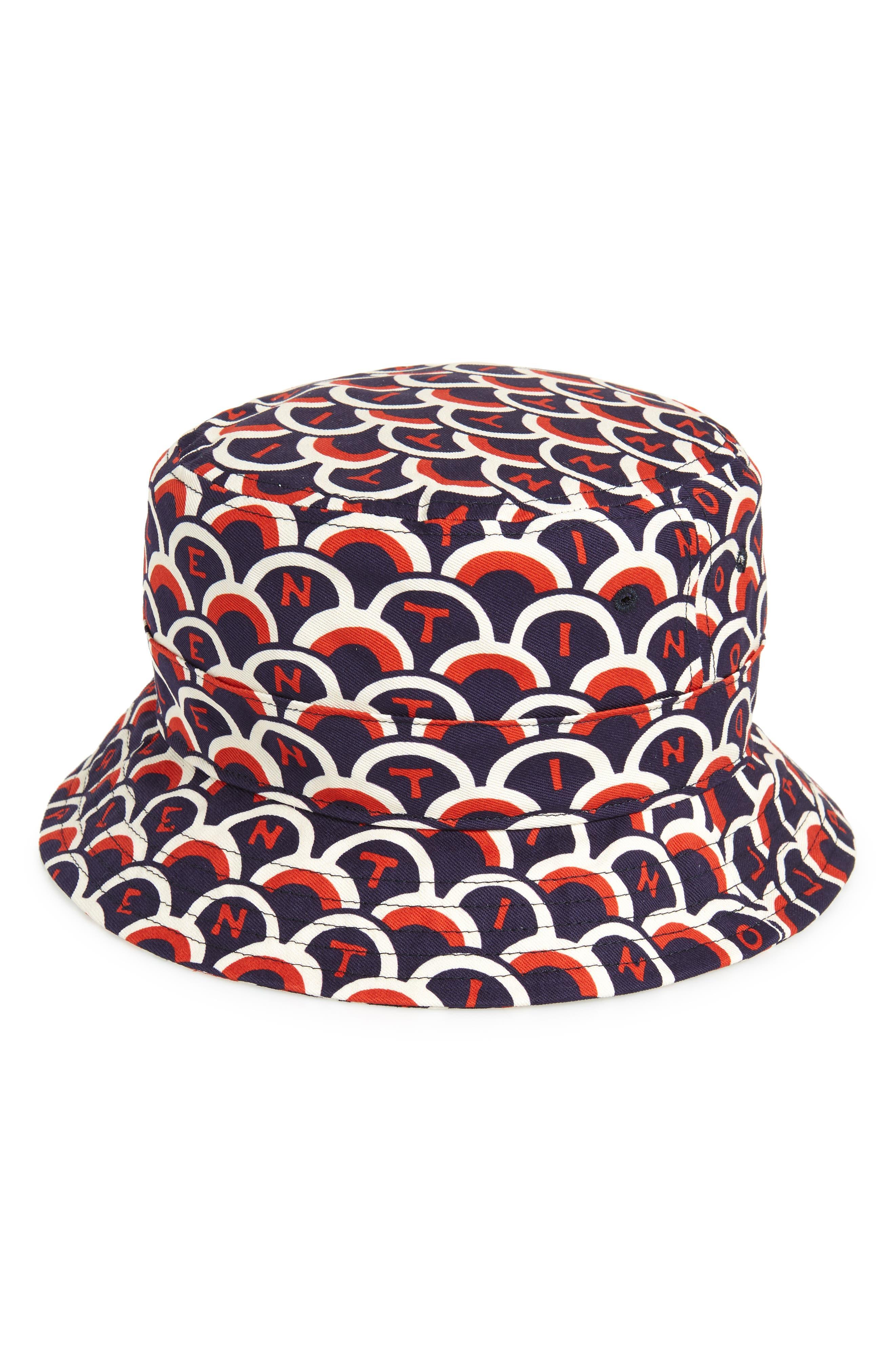 Logo Bucket Hat,                             Main thumbnail 1, color,                             MARINE/ RED/ WHITE