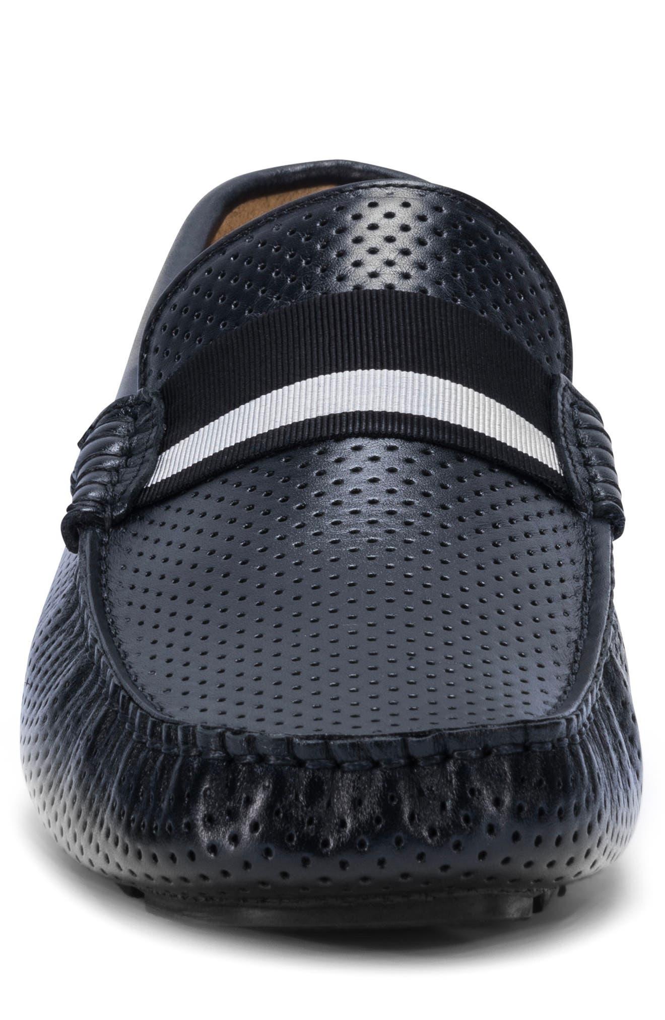 Sardegna Driving Shoe,                             Alternate thumbnail 4, color,                             BLACK
